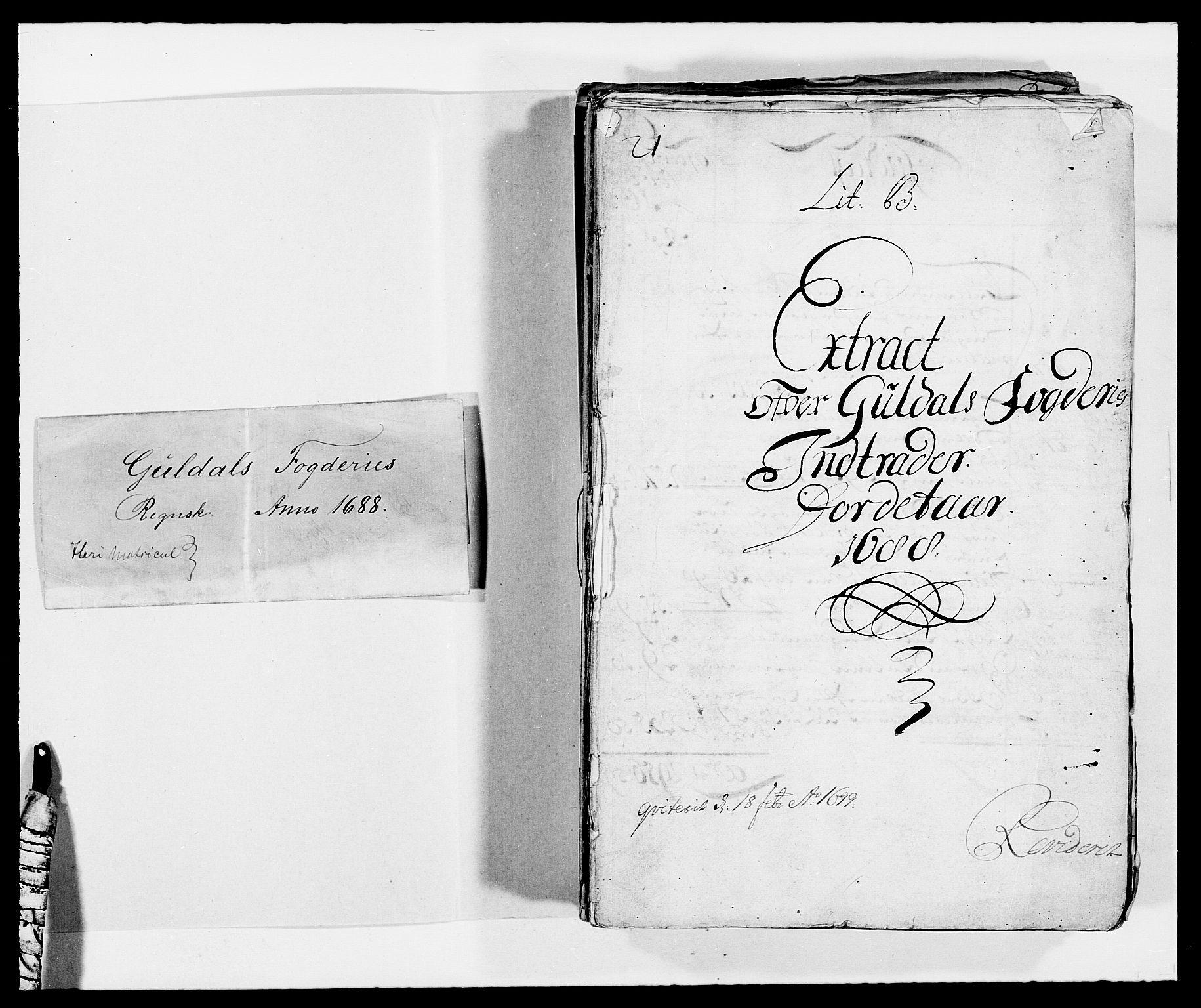 RA, Rentekammeret inntil 1814, Reviderte regnskaper, Fogderegnskap, R59/L3939: Fogderegnskap Gauldal, 1687-1688, s. 123