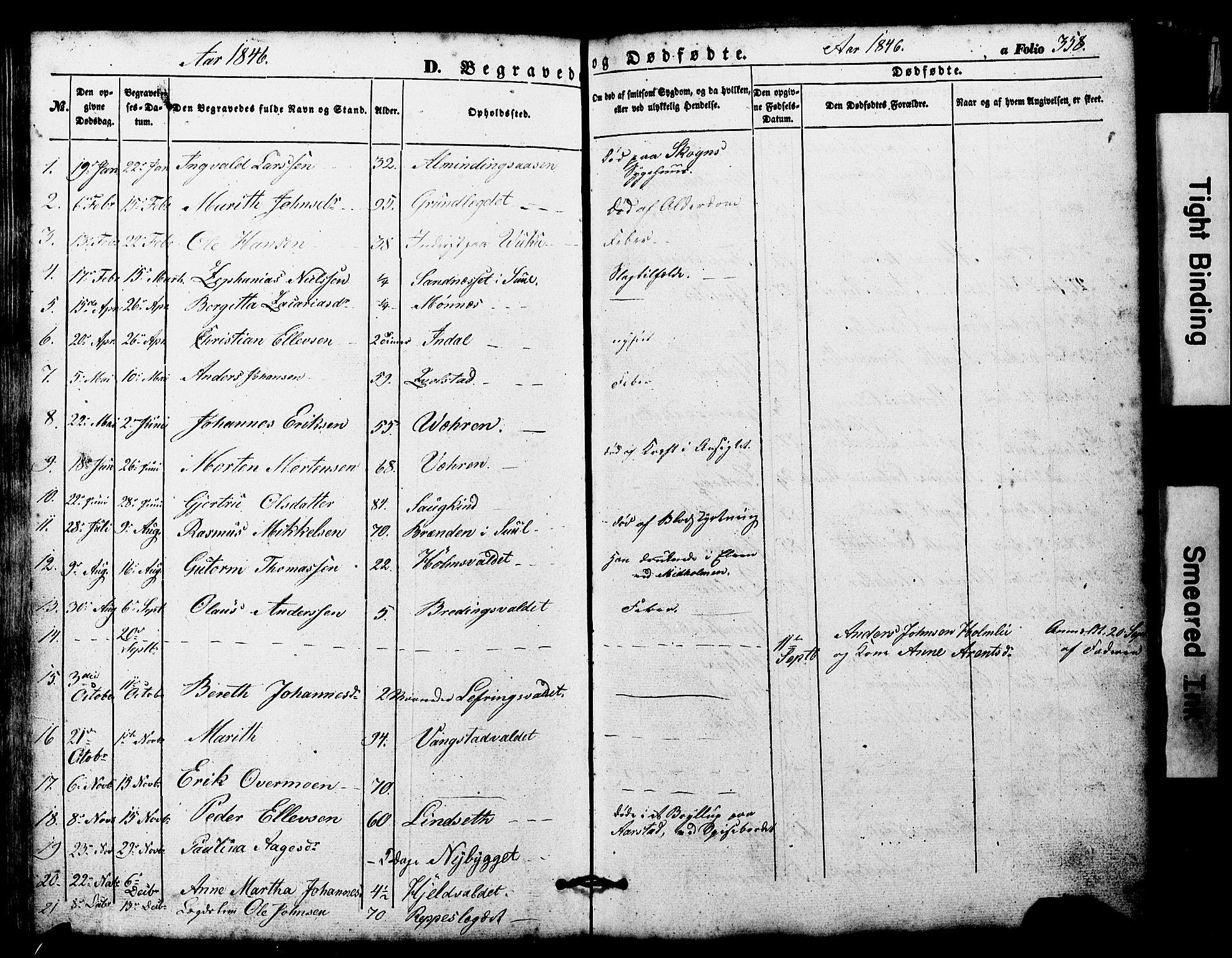 SAT, Ministerialprotokoller, klokkerbøker og fødselsregistre - Nord-Trøndelag, 724/L0268: Klokkerbok nr. 724C04, 1846-1878, s. 358