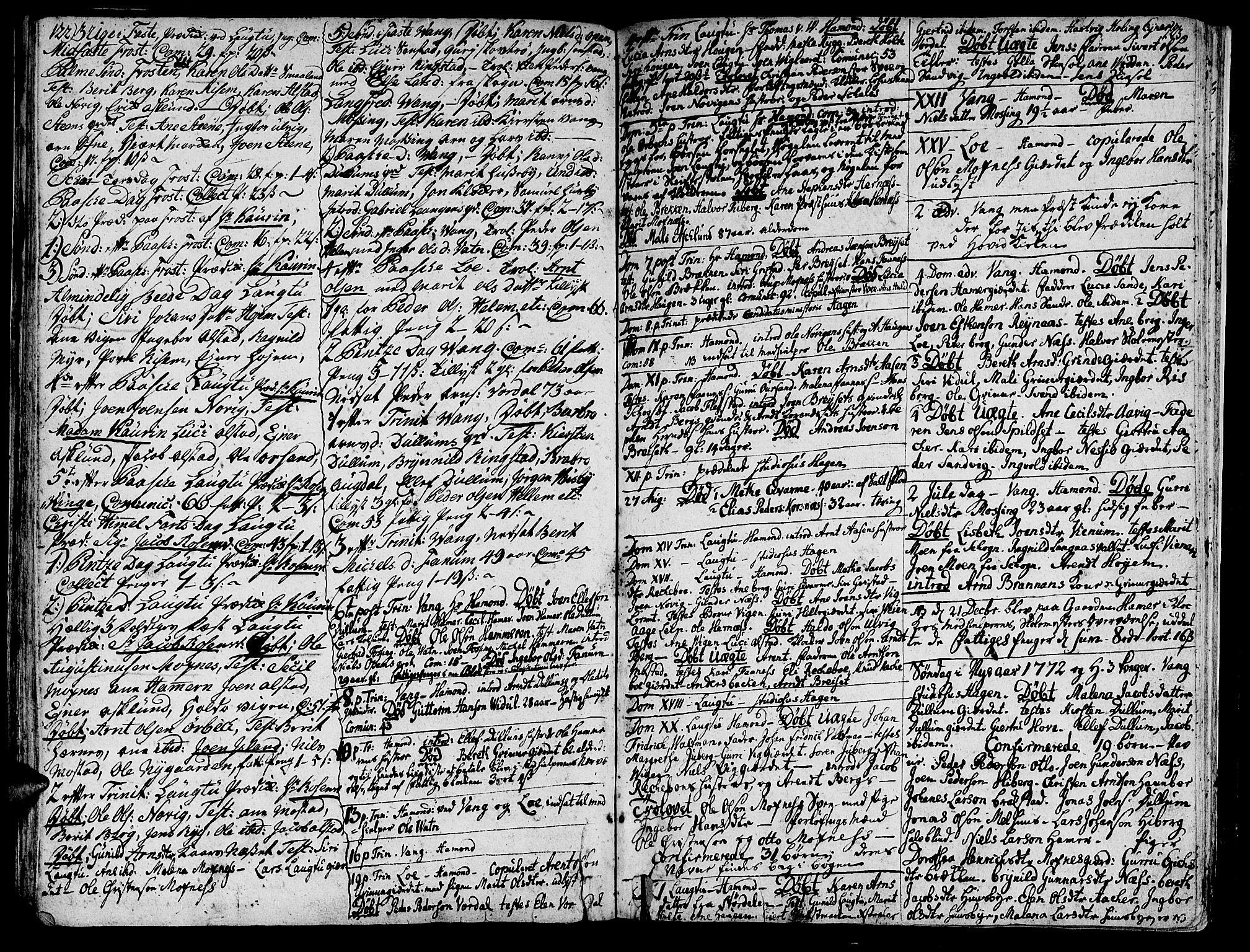 SAT, Ministerialprotokoller, klokkerbøker og fødselsregistre - Nord-Trøndelag, 713/L0109: Ministerialbok nr. 713A01, 1750-1778, s. 122-123