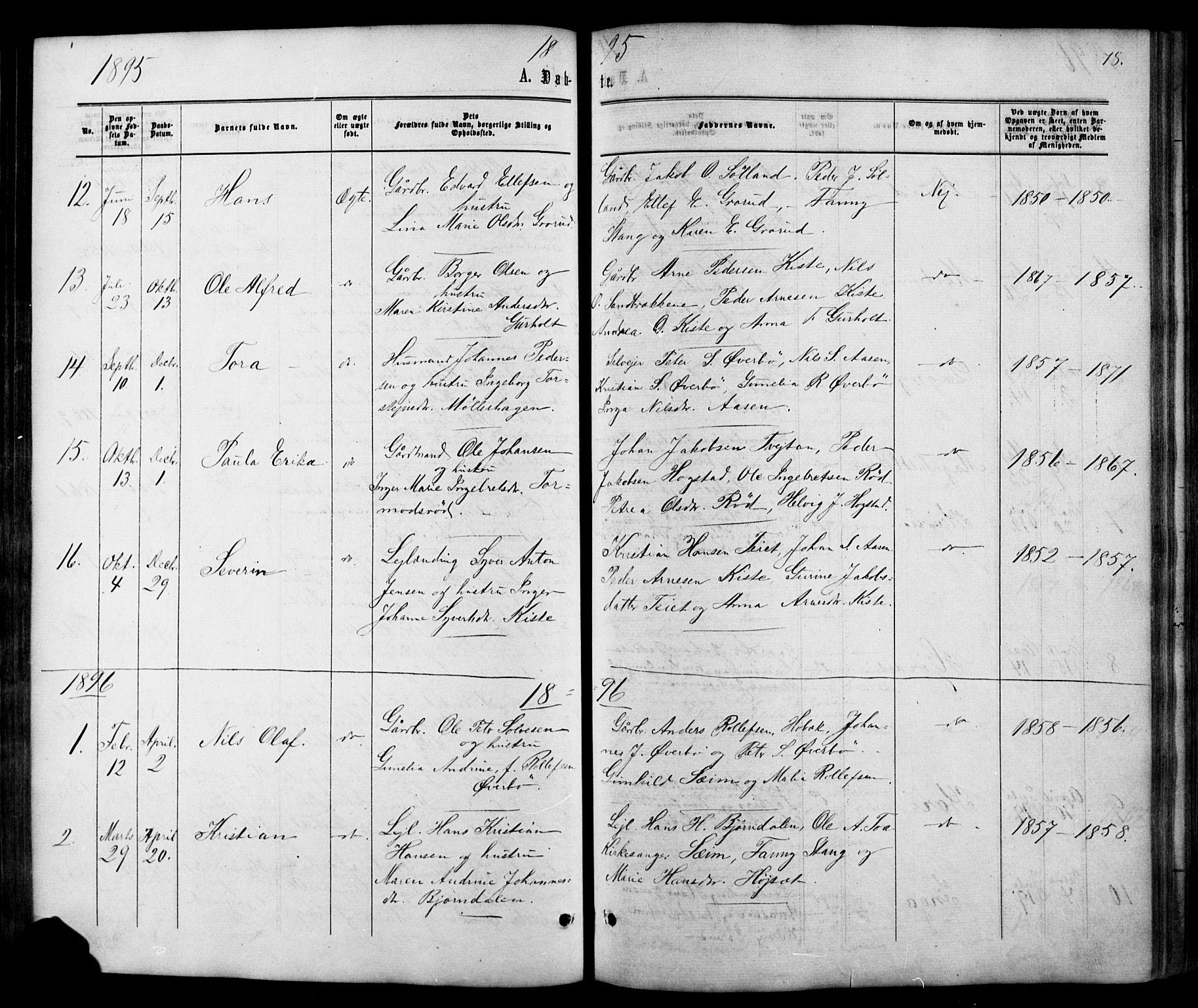 SAKO, Siljan kirkebøker, G/Ga/L0002: Klokkerbok nr. 2, 1864-1908, s. 78