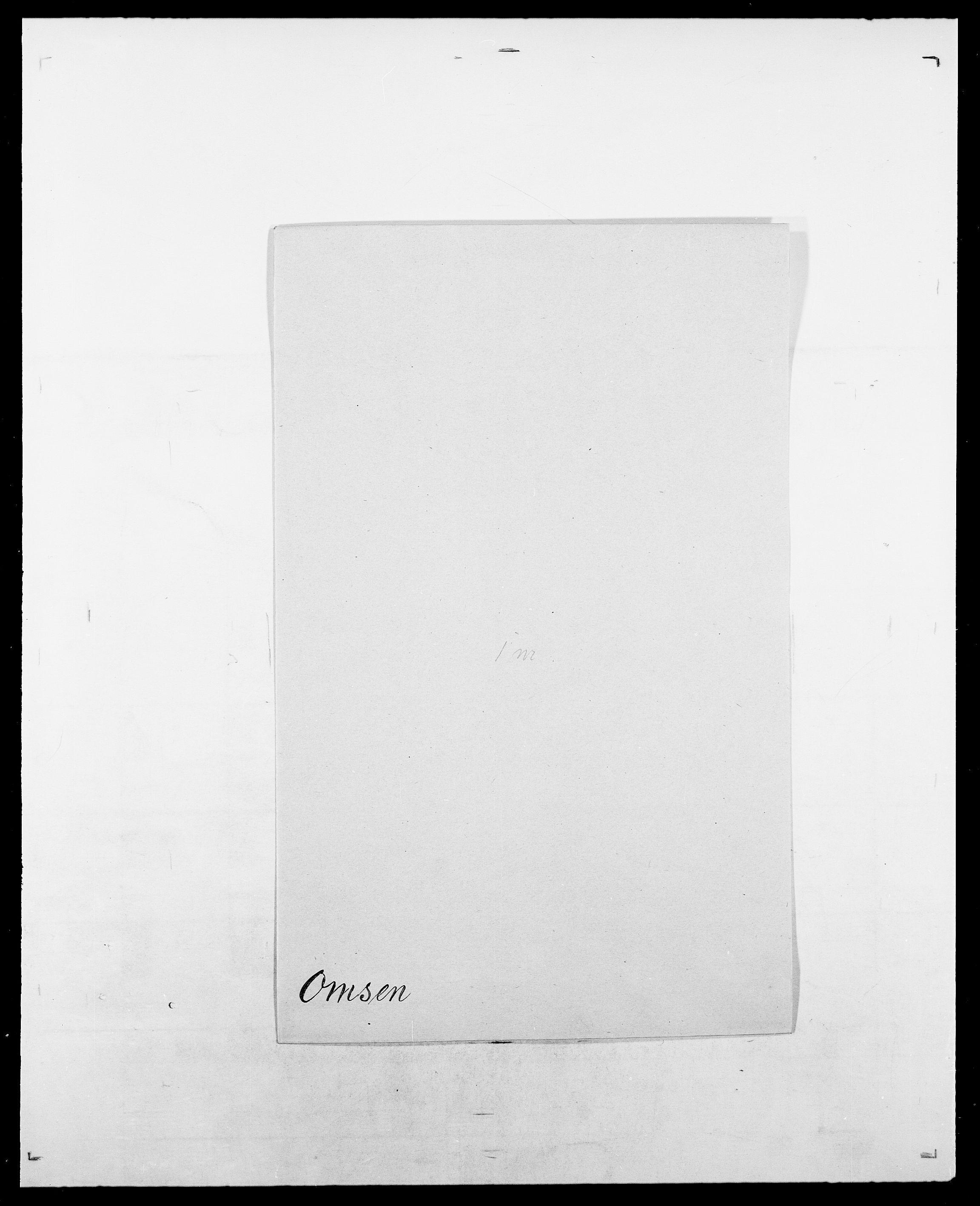 SAO, Delgobe, Charles Antoine - samling, D/Da/L0029: Obel - Oxholm, s. 279