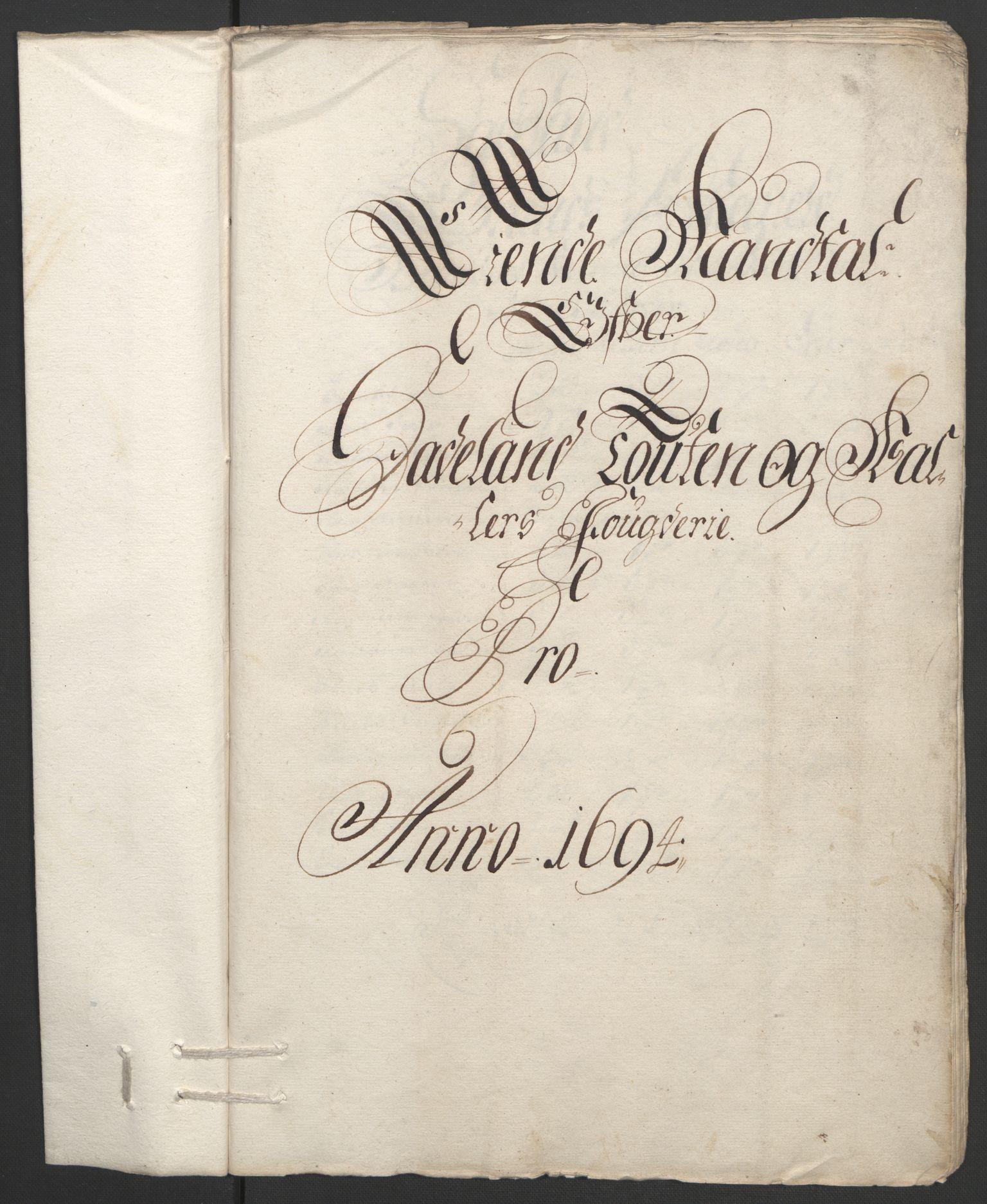 RA, Rentekammeret inntil 1814, Reviderte regnskaper, Fogderegnskap, R18/L1292: Fogderegnskap Hadeland, Toten og Valdres, 1693-1694, s. 209