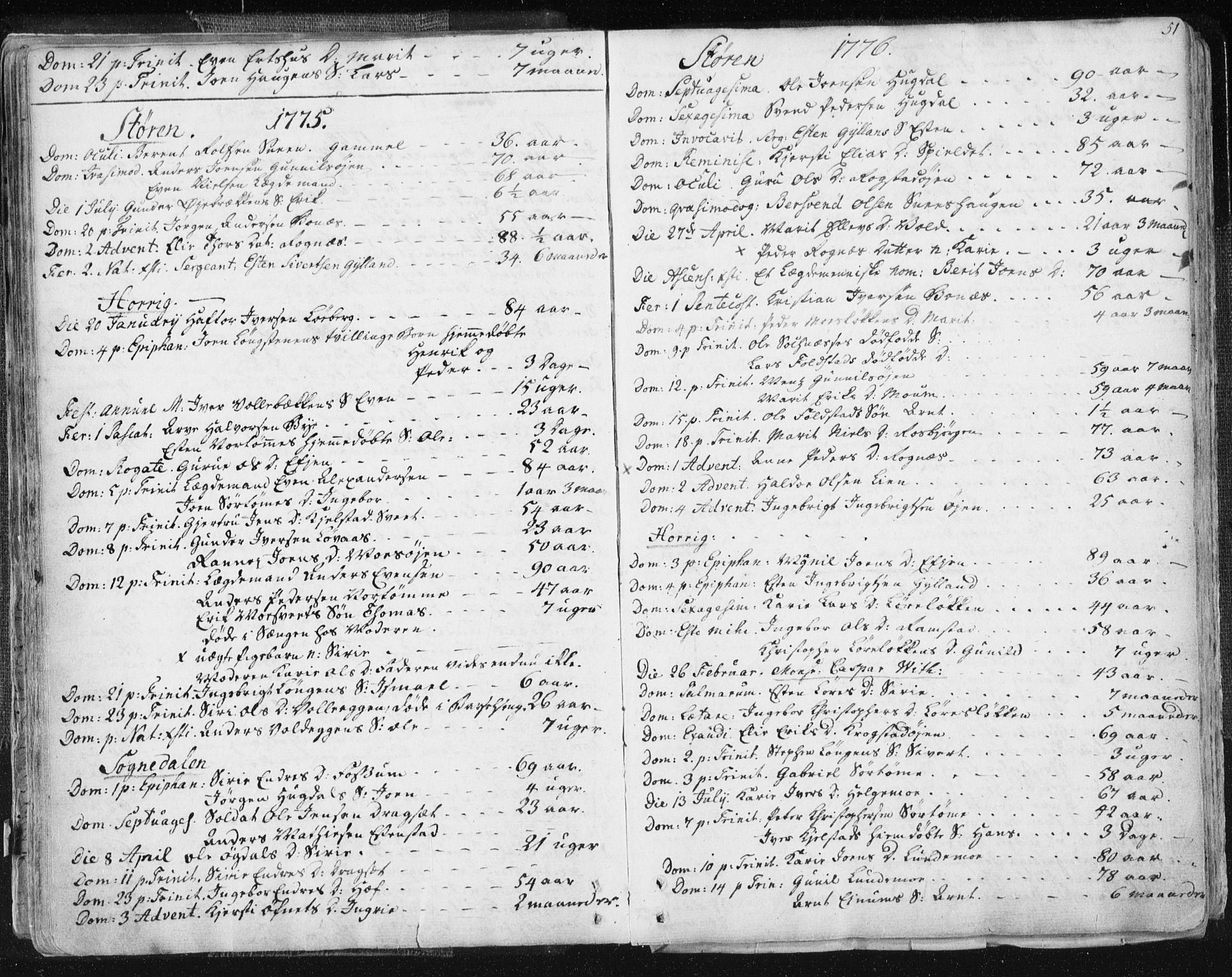 SAT, Ministerialprotokoller, klokkerbøker og fødselsregistre - Sør-Trøndelag, 687/L0991: Ministerialbok nr. 687A02, 1747-1790, s. 51