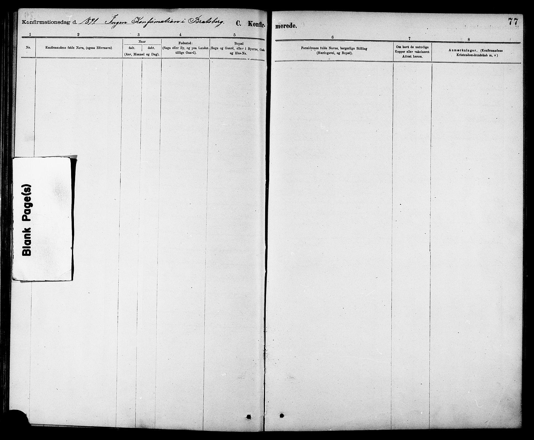 SAT, Ministerialprotokoller, klokkerbøker og fødselsregistre - Sør-Trøndelag, 608/L0341: Klokkerbok nr. 608C07, 1890-1912, s. 77