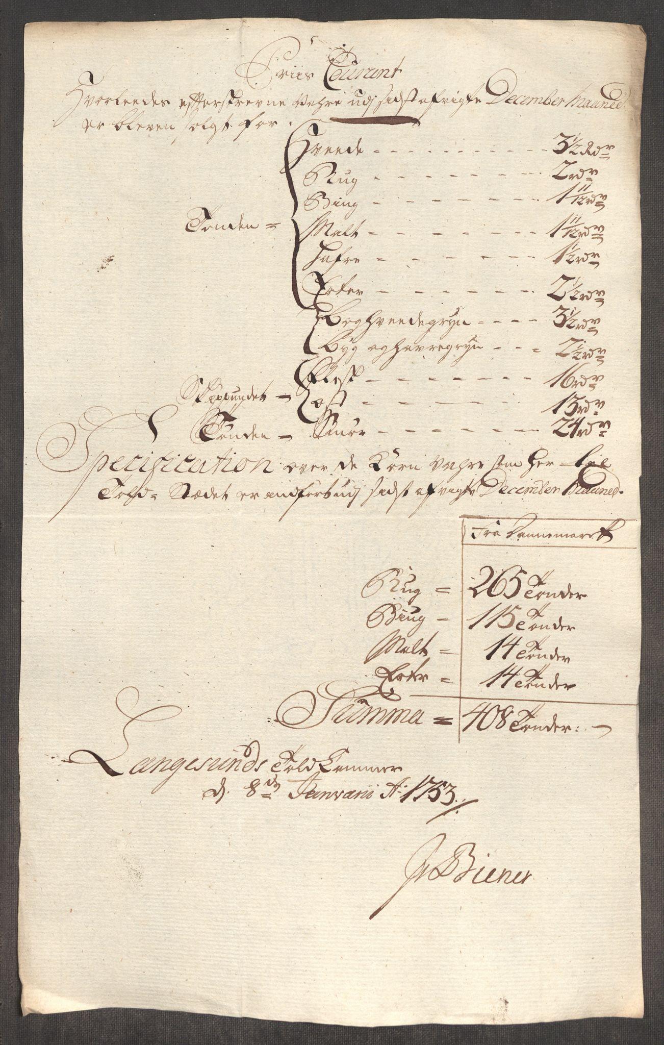 RA, Rentekammeret inntil 1814, Realistisk ordnet avdeling, Oe/L0004: [Ø1]: Priskuranter, 1749-1752, s. 924