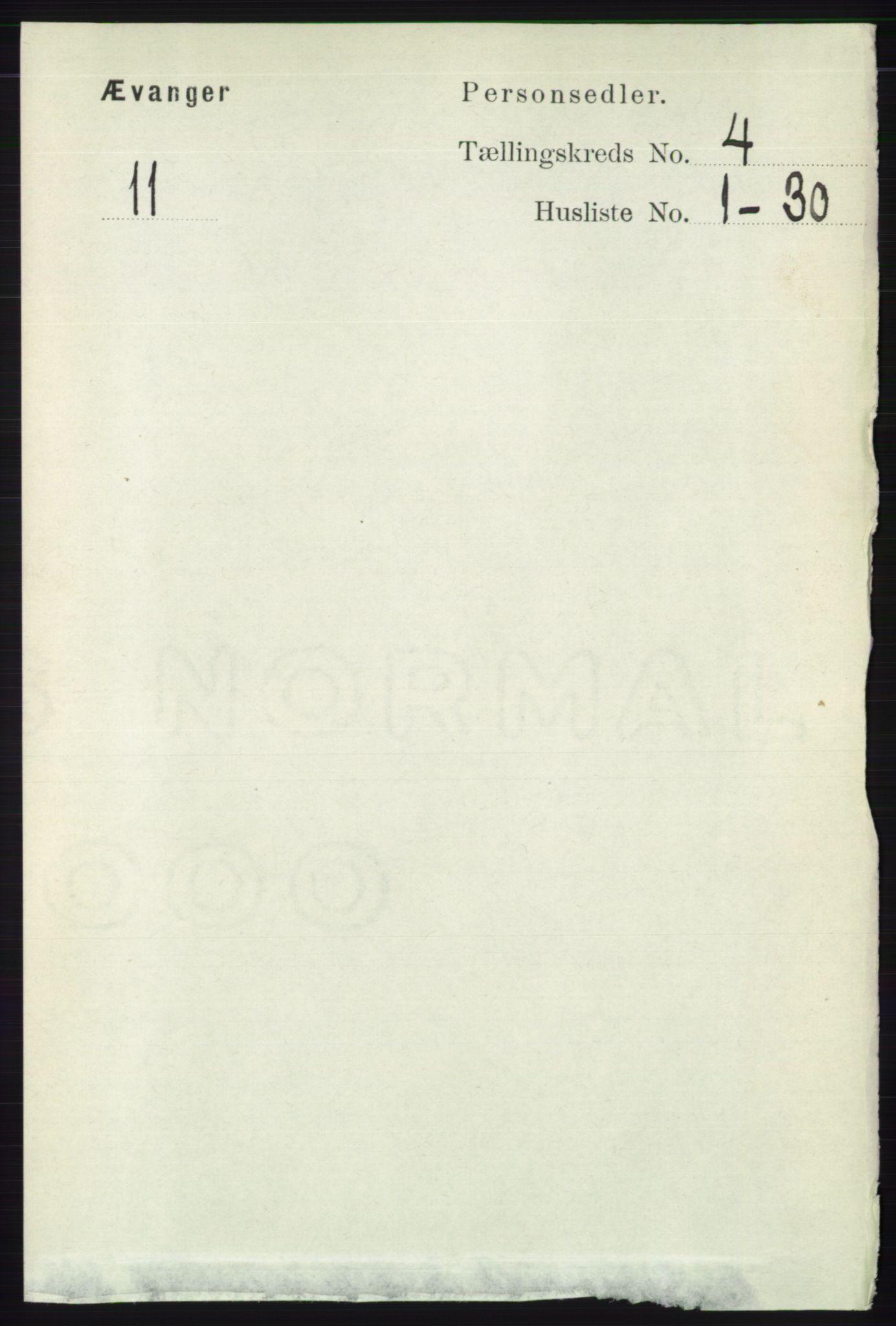 RA, Folketelling 1891 for 1237 Evanger herred, 1891, s. 1137
