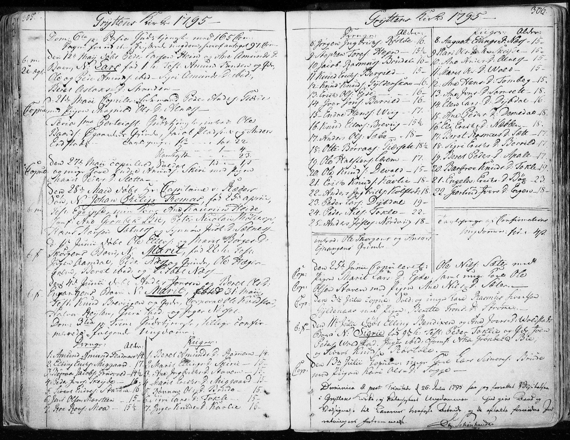SAT, Ministerialprotokoller, klokkerbøker og fødselsregistre - Møre og Romsdal, 544/L0569: Ministerialbok nr. 544A02, 1764-1806, s. 305-306
