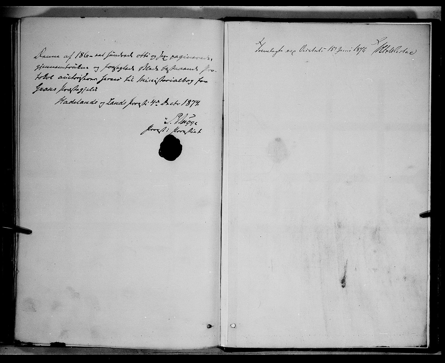 SAH, Gran prestekontor, Ministerialbok nr. 13, 1875-1879