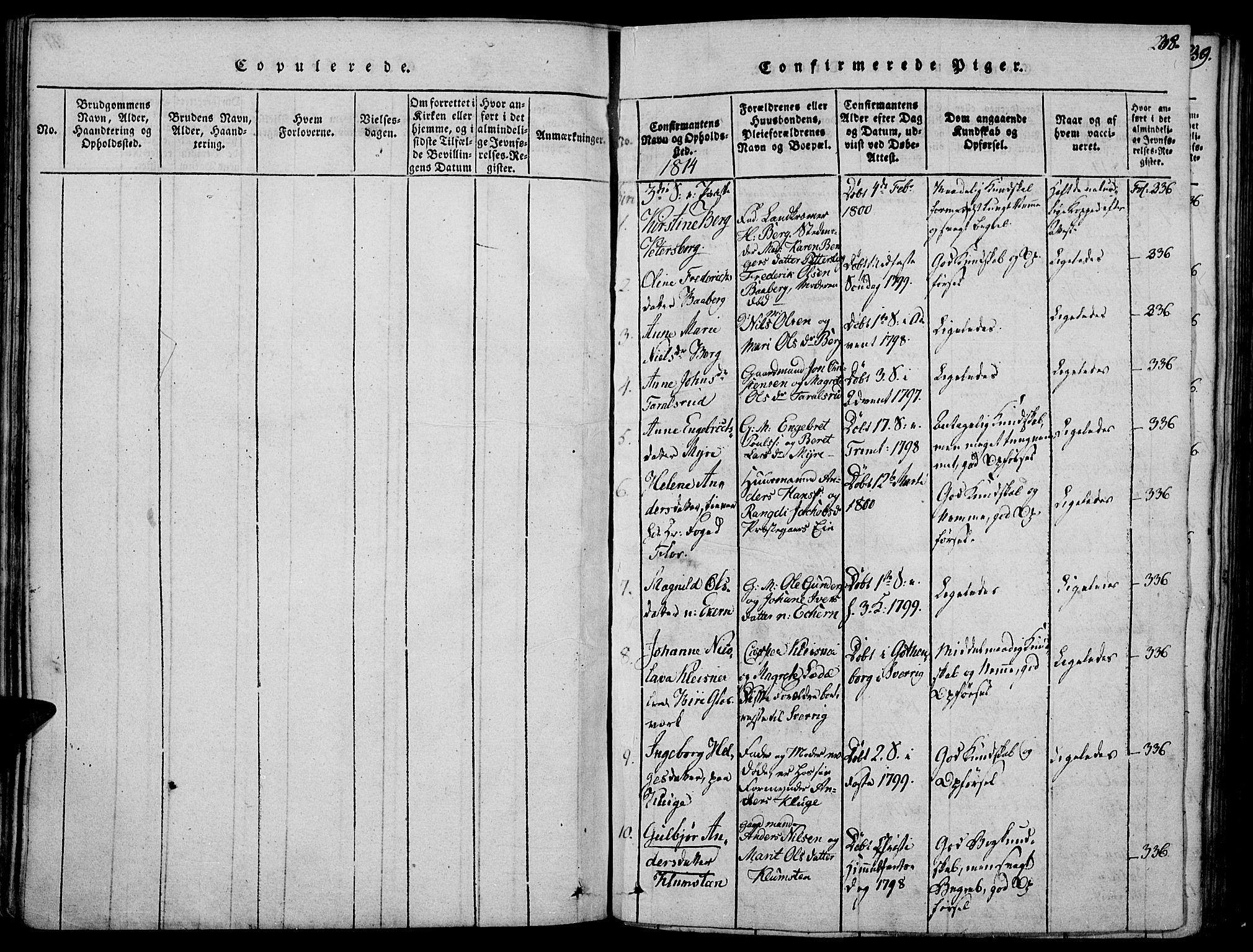 SAH, Biri prestekontor, Ministerialbok nr. 3, 1814-1828, s. 238