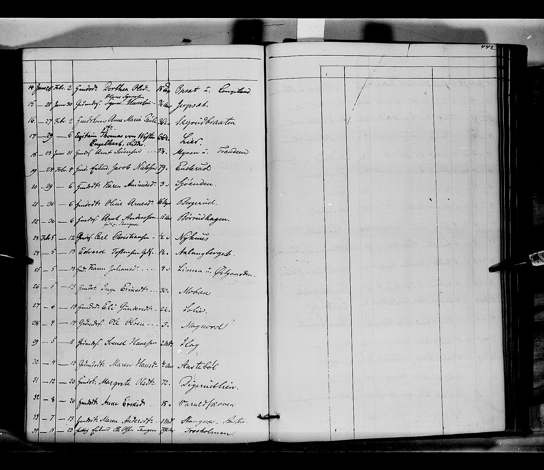 SAH, Vinger prestekontor, Ministerialbok nr. 10, 1855-1861, s. 442
