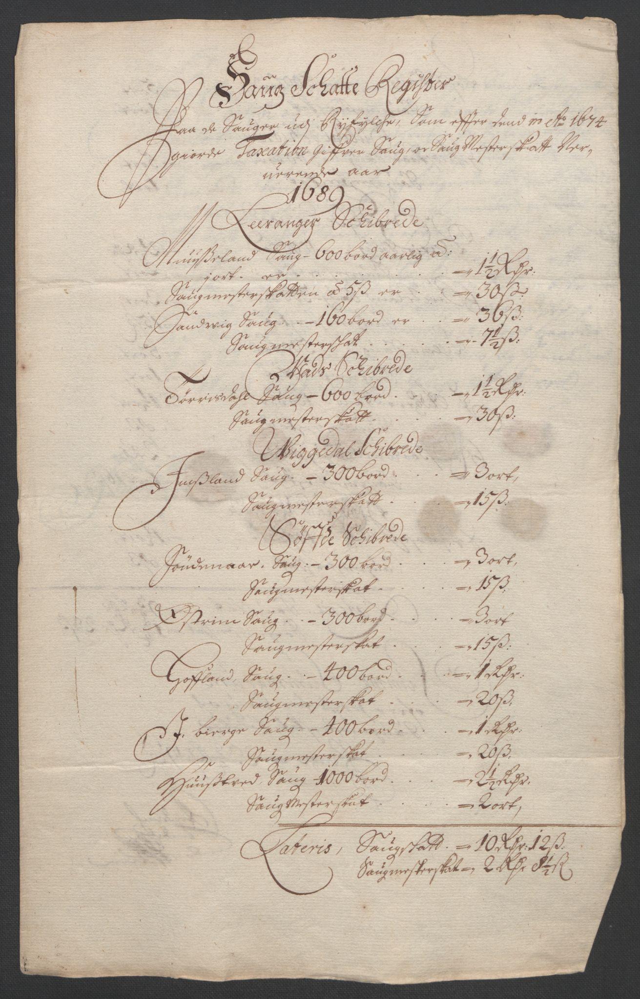 RA, Rentekammeret inntil 1814, Reviderte regnskaper, Fogderegnskap, R47/L2856: Fogderegnskap Ryfylke, 1689-1693, s. 80