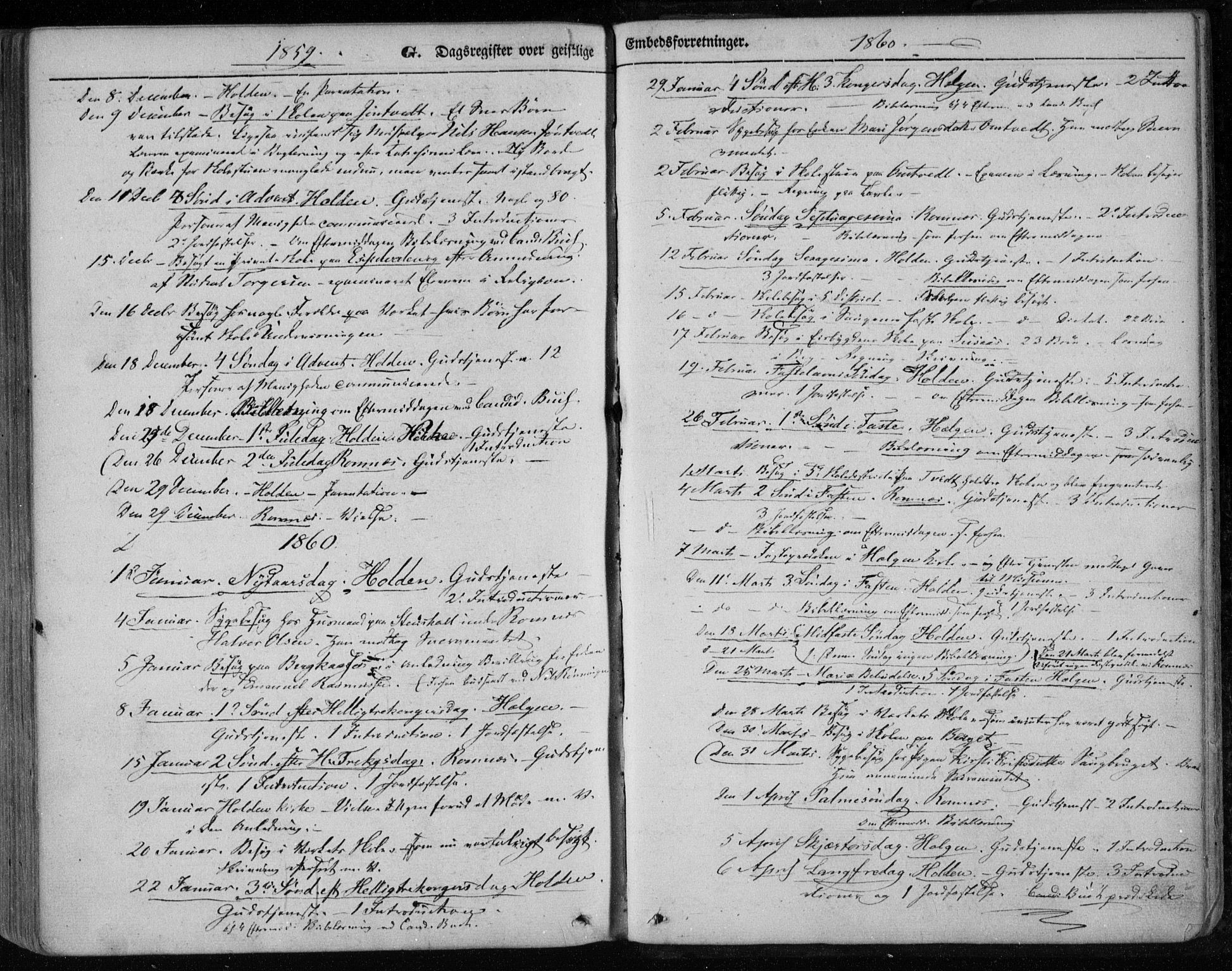 SAKO, Holla kirkebøker, F/Fa/L0005: Ministerialbok nr. 5, 1849-1860