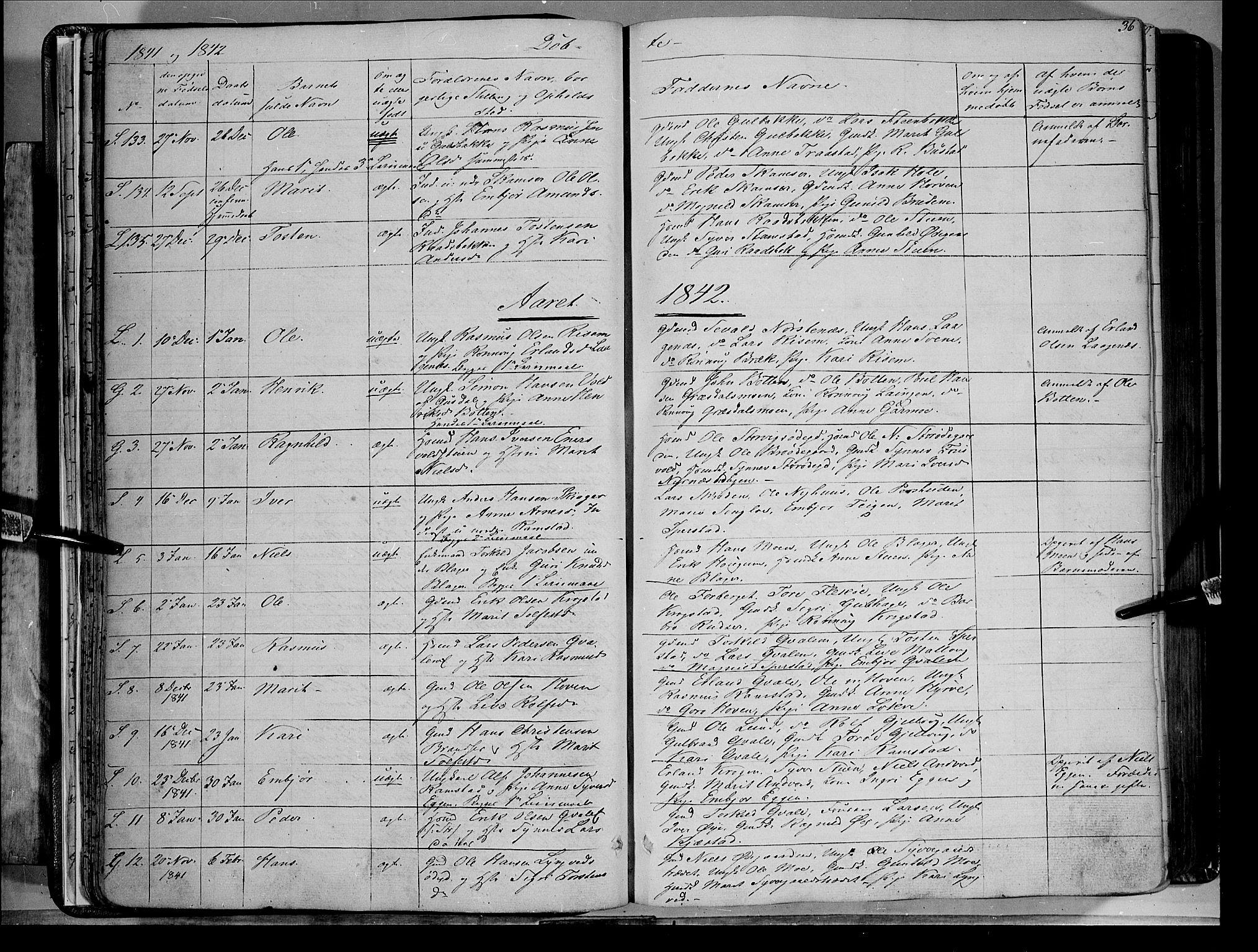 SAH, Lom prestekontor, K/L0006: Ministerialbok nr. 6A, 1837-1863, s. 36