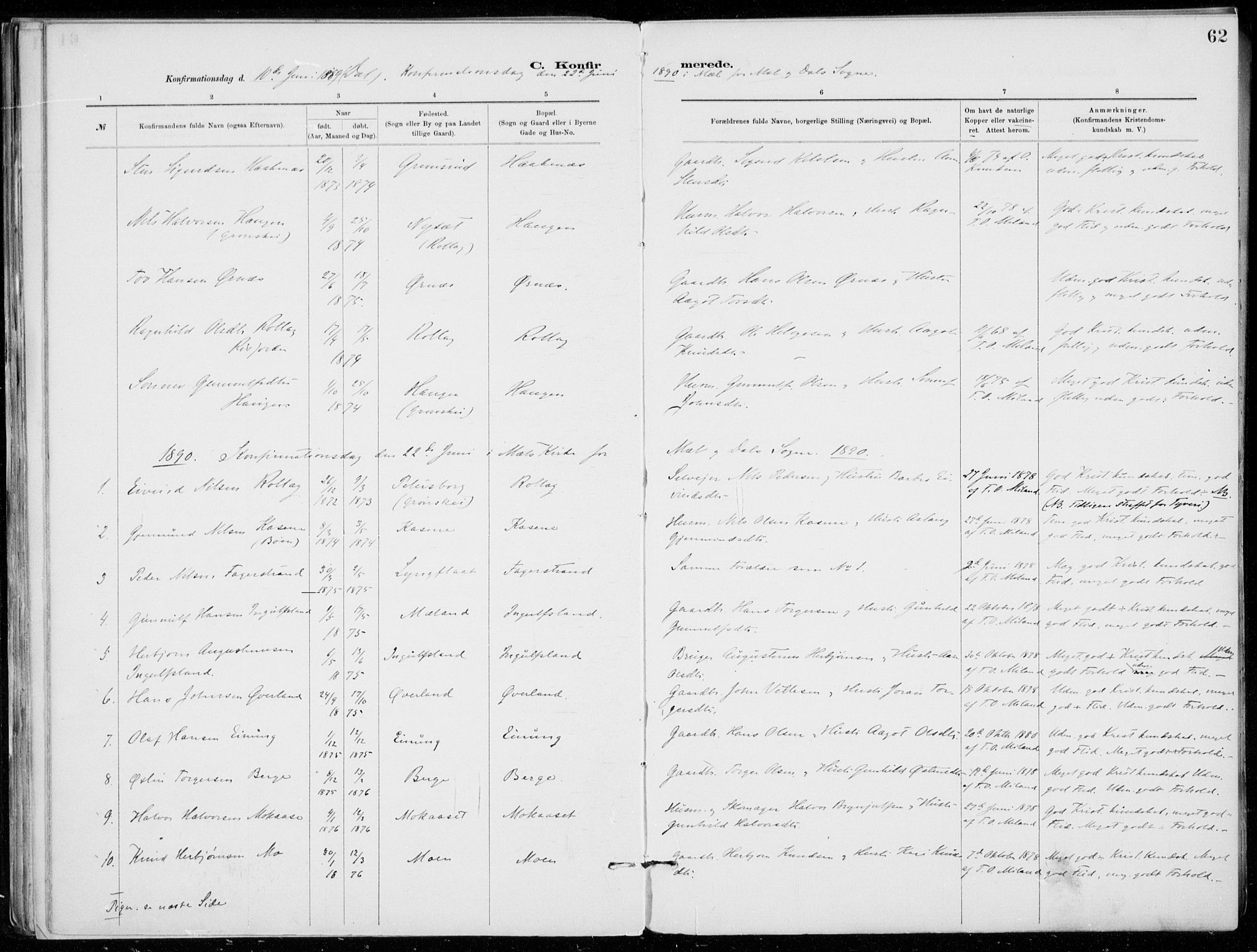 SAKO, Tinn kirkebøker, F/Fb/L0002: Ministerialbok nr. II 2, 1878-1917, s. 62