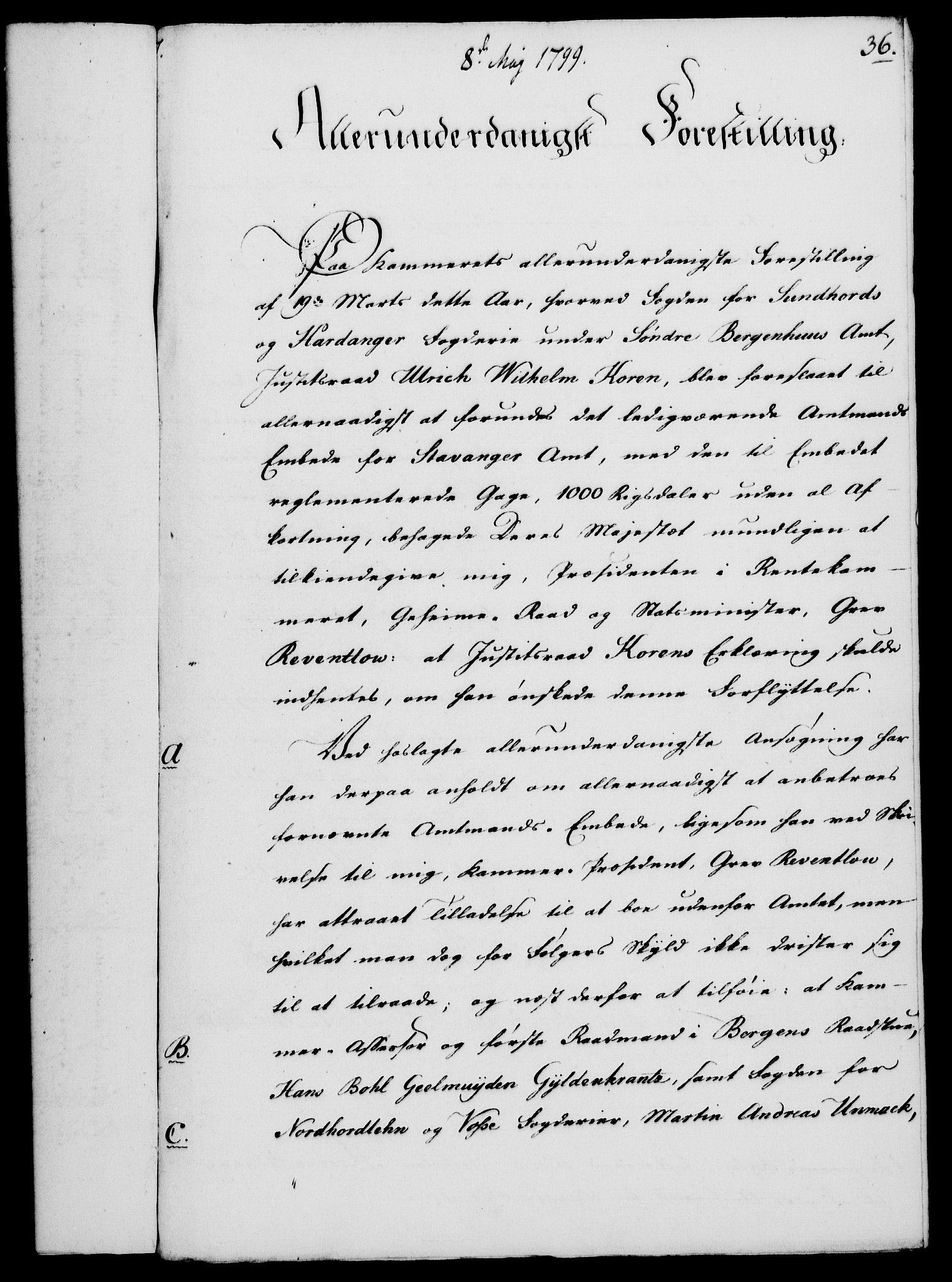 RA, Rentekammeret, Kammerkanselliet, G/Gf/Gfa/L0081: Norsk relasjons- og resolusjonsprotokoll (merket RK 52.81), 1799, s. 237