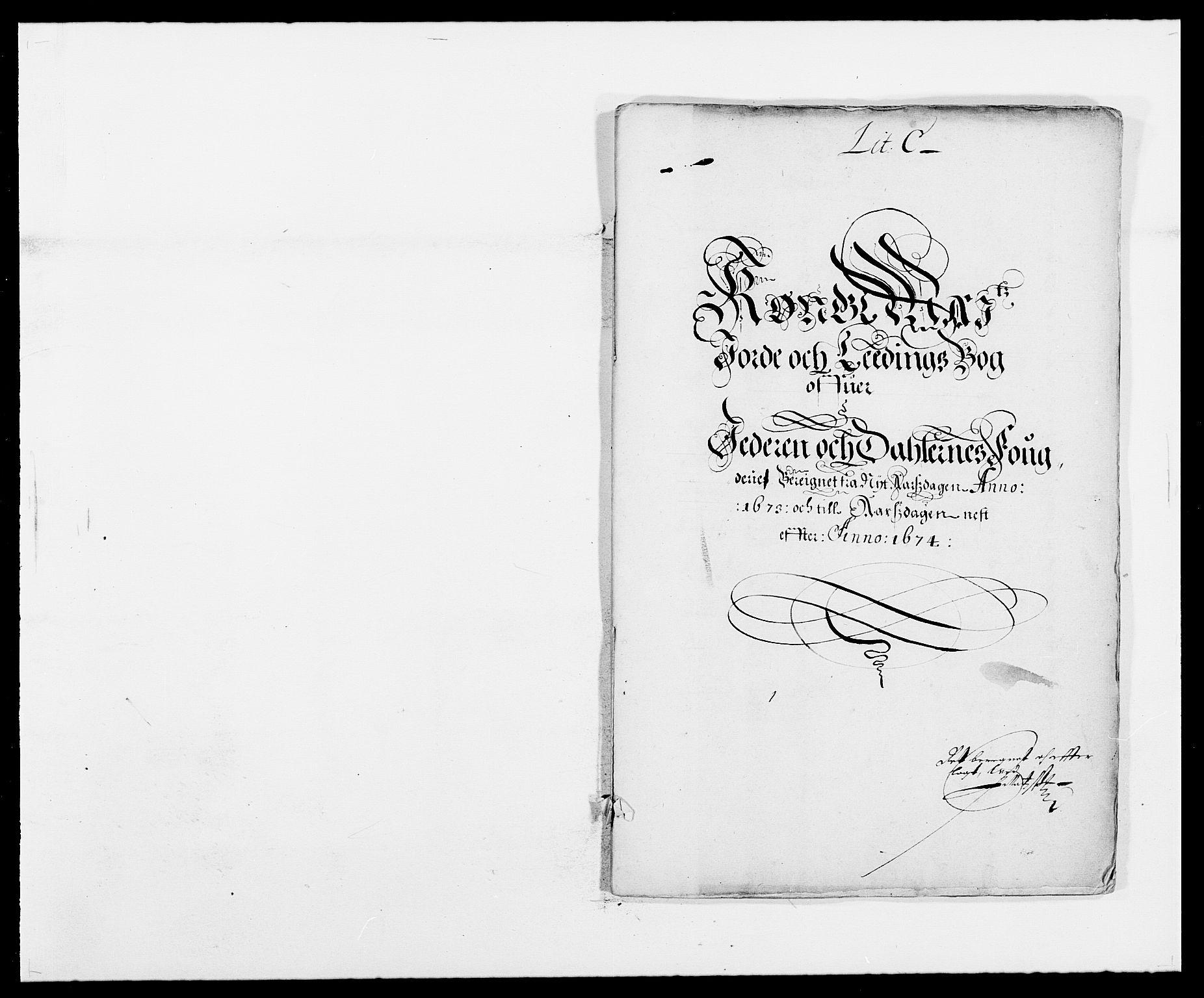 RA, Rentekammeret inntil 1814, Reviderte regnskaper, Fogderegnskap, R46/L2714: Fogderegnskap Jæren og Dalane, 1673-1674, s. 43