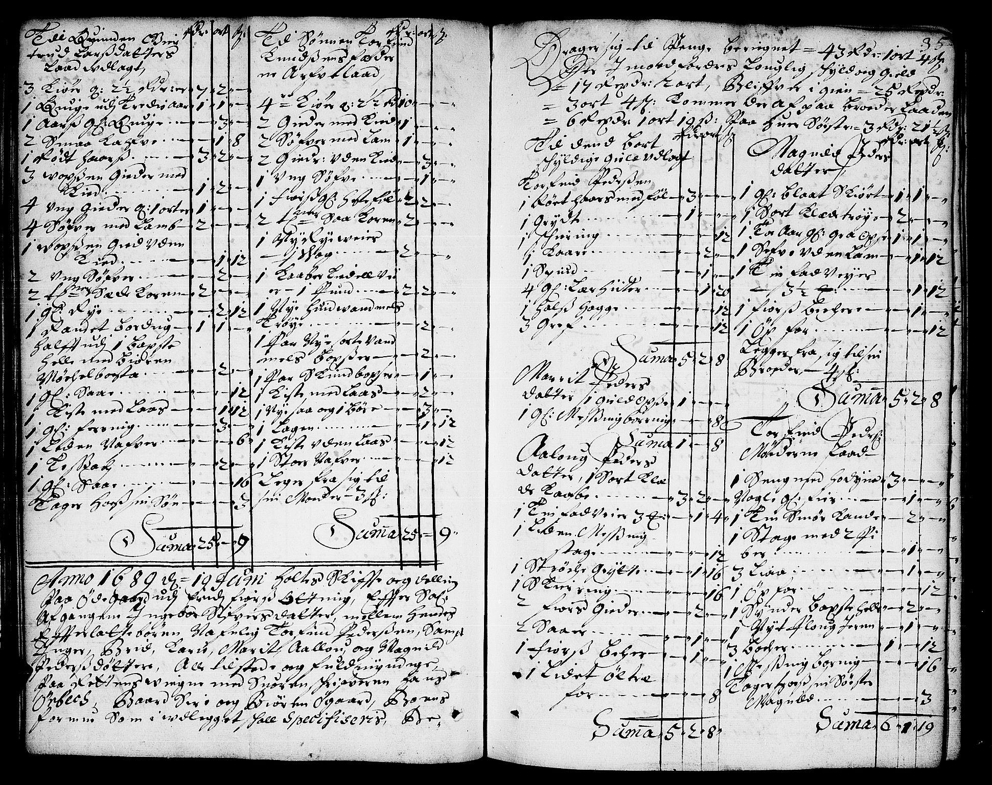 SAT, Romsdal sorenskriveri, 3/3A/L0003: Skifteprotokoll, 1688-1690, s. 34b-35a