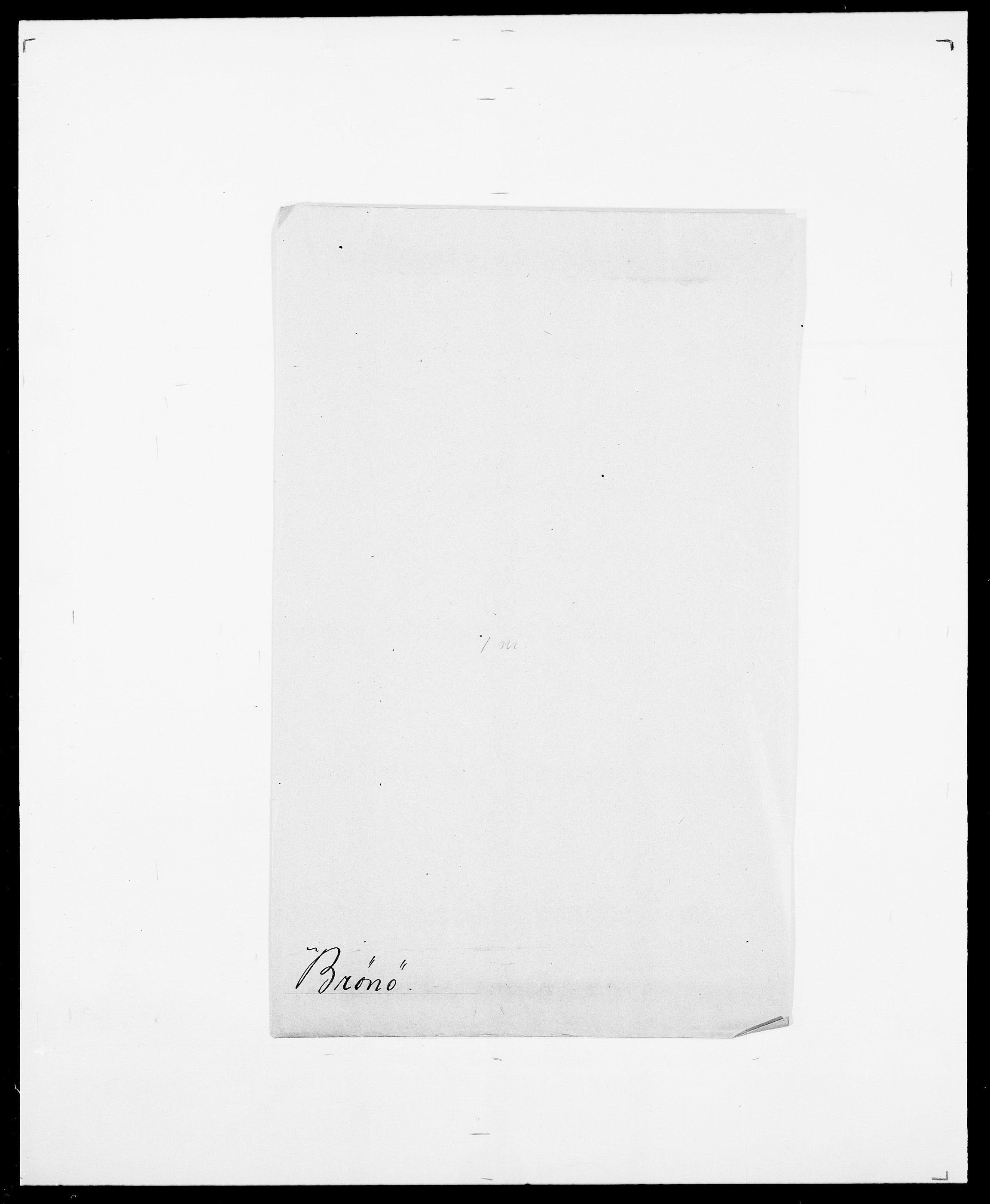 SAO, Delgobe, Charles Antoine - samling, D/Da/L0006: Brambani - Brønø, s. 1074