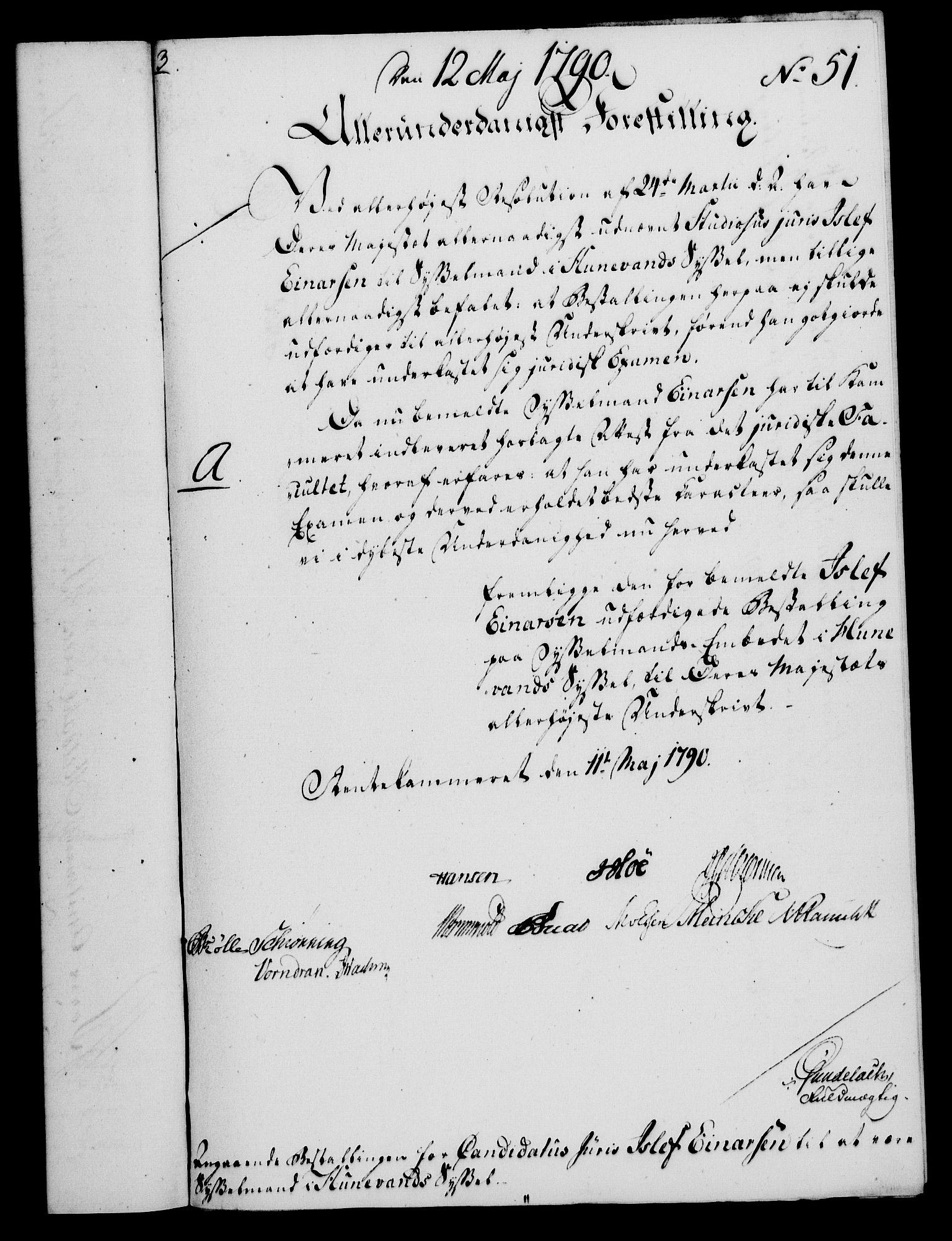 RA, Rentekammeret, Kammerkanselliet, G/Gf/Gfa/L0072: Norsk relasjons- og resolusjonsprotokoll (merket RK 52.72), 1790, s. 244