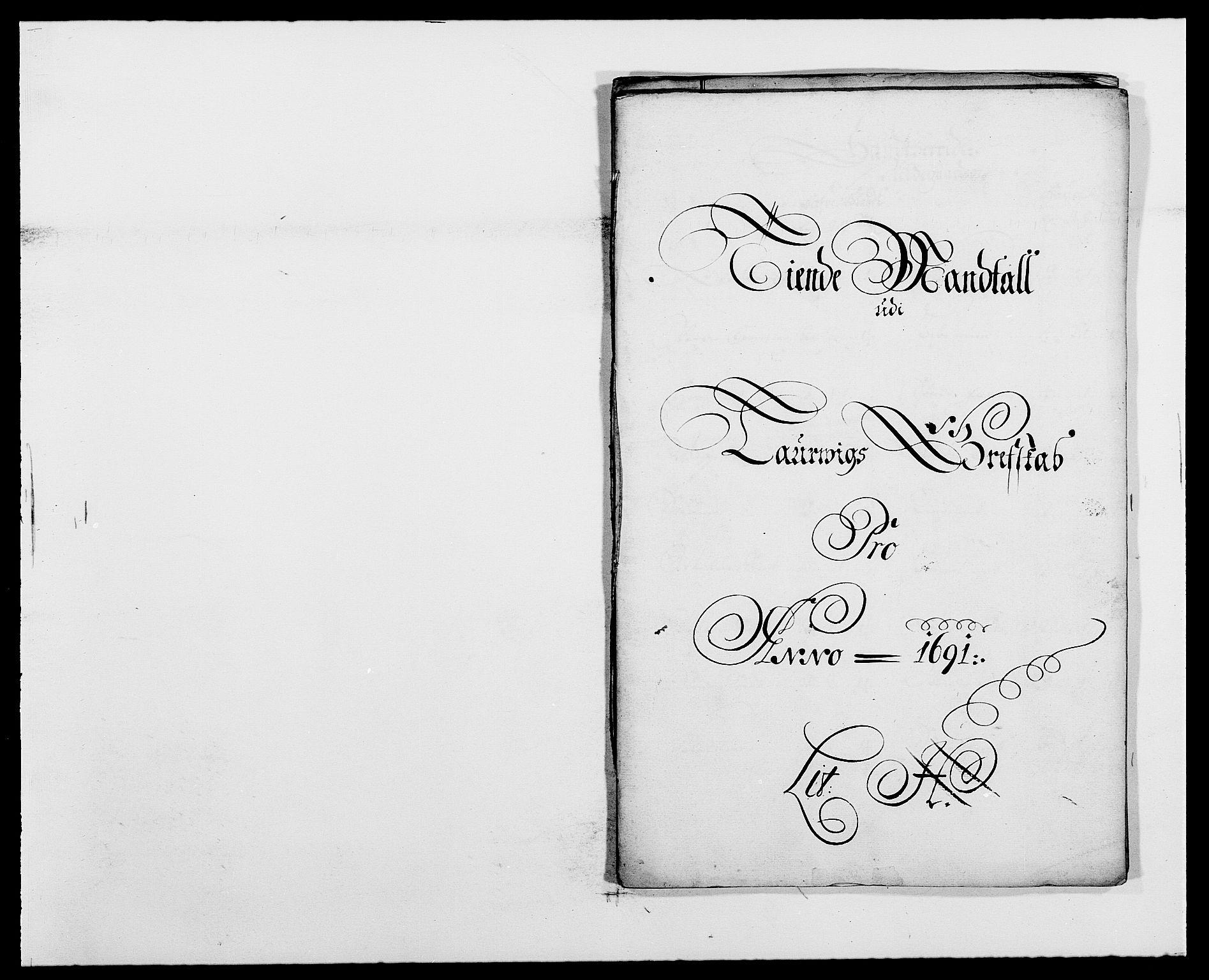RA, Rentekammeret inntil 1814, Reviderte regnskaper, Fogderegnskap, R33/L1972: Fogderegnskap Larvik grevskap, 1690-1691, s. 379