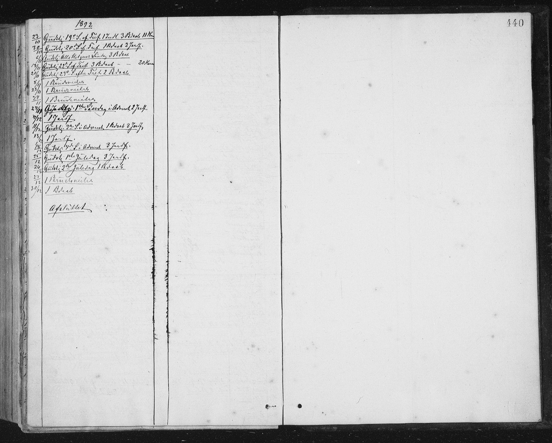 SAT, Ministerialprotokoller, klokkerbøker og fødselsregistre - Sør-Trøndelag, 659/L0745: Klokkerbok nr. 659C02, 1869-1892, s. 440