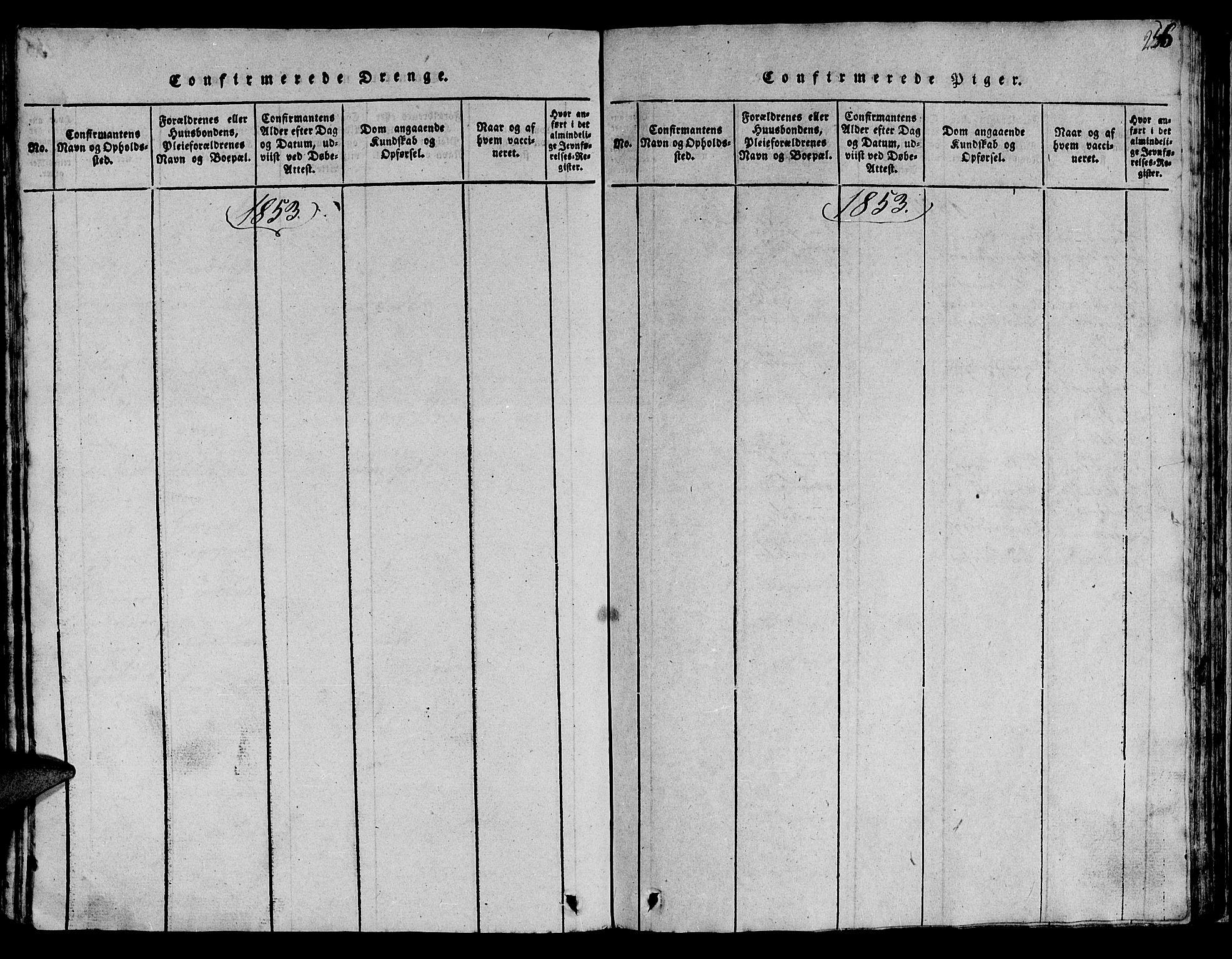 SAT, Ministerialprotokoller, klokkerbøker og fødselsregistre - Sør-Trøndelag, 613/L0393: Klokkerbok nr. 613C01, 1816-1886, s. 256