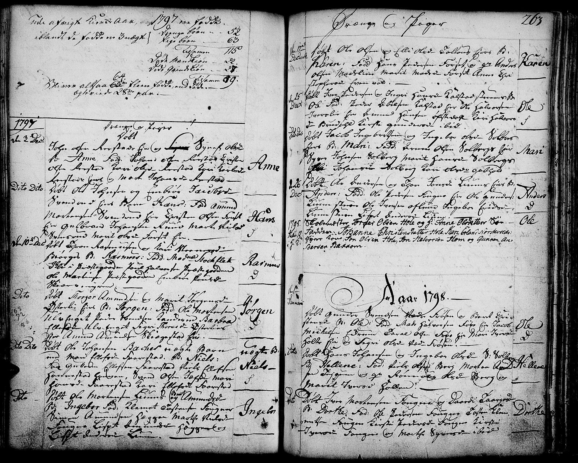 SAH, Gausdal prestekontor, Ministerialbok nr. 3, 1758-1809, s. 263