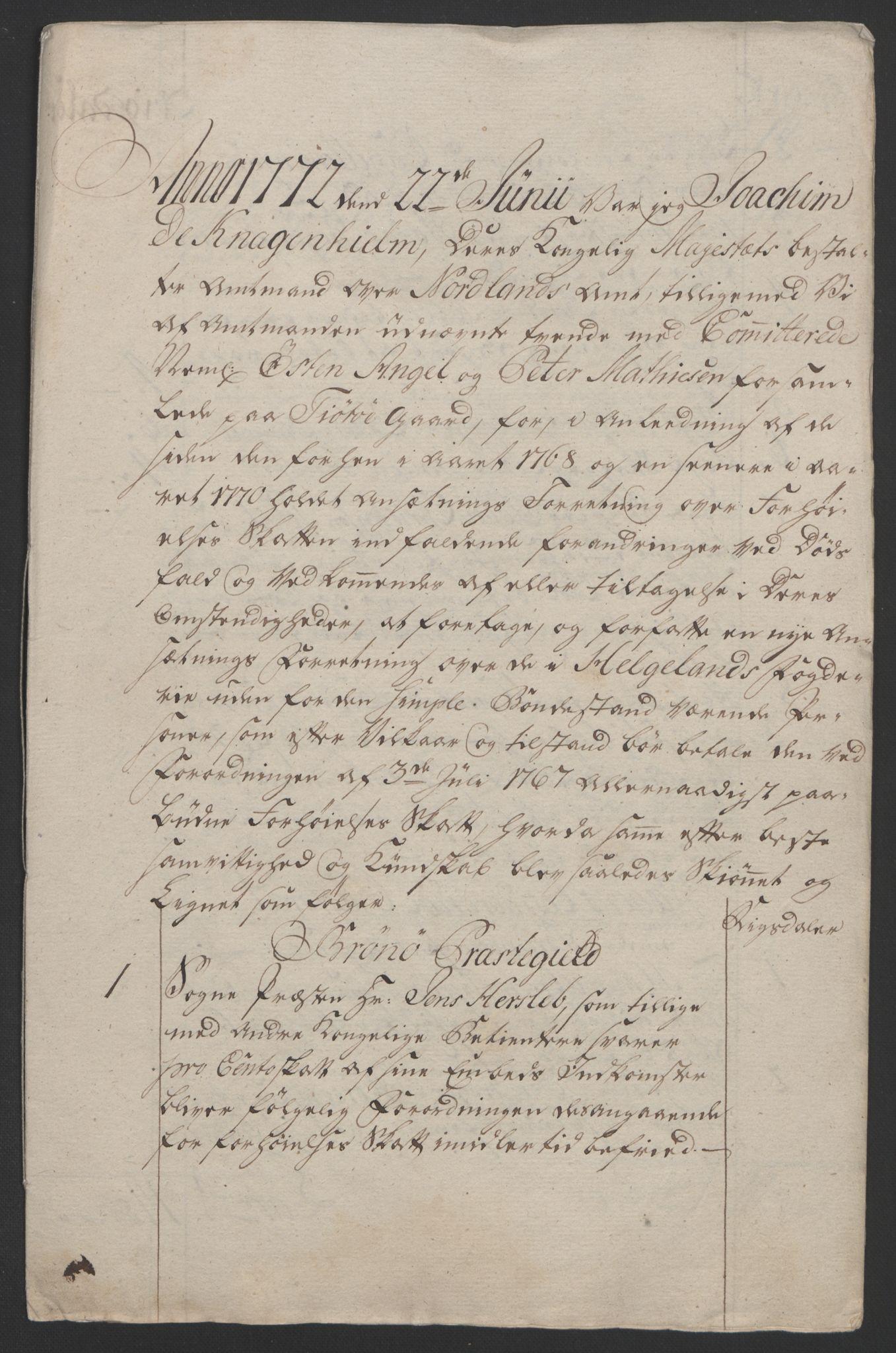 RA, Rentekammeret inntil 1814, Reviderte regnskaper, Fogderegnskap, R65/L4573: Ekstraskatten Helgeland, 1762-1772, s. 636