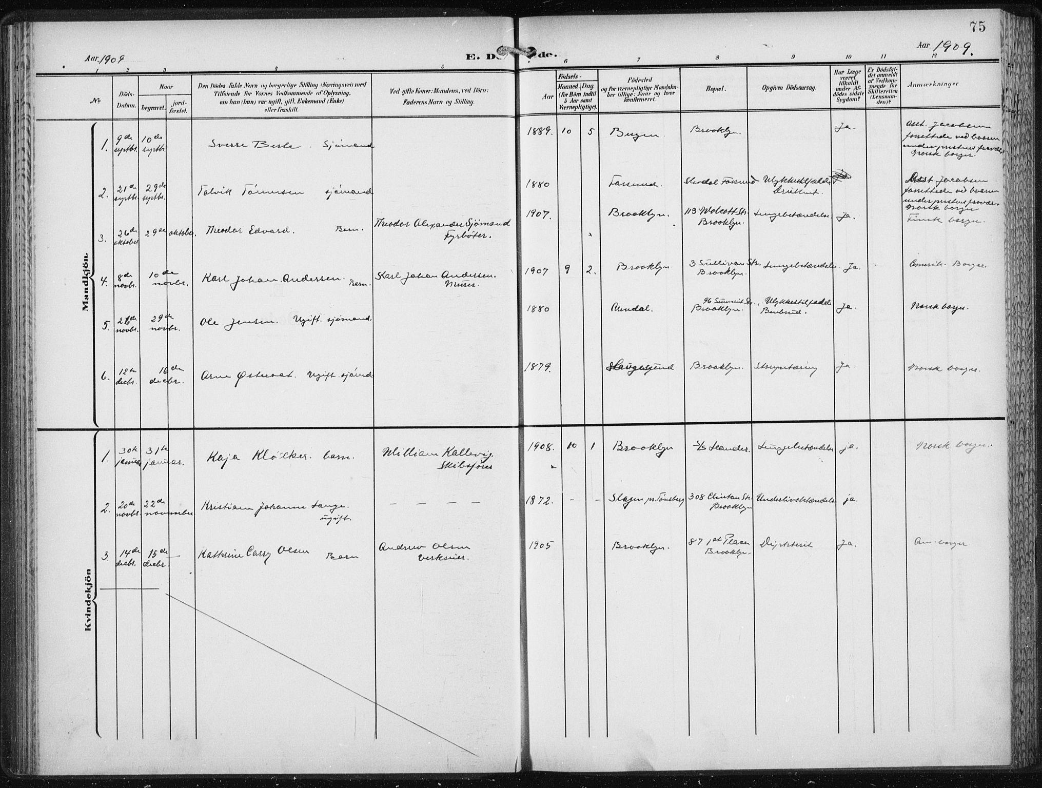 SAB, Den Norske Sjømannsmisjon i utlandet*, Ministerialbok nr. A 6, 1909-1914, s. 75