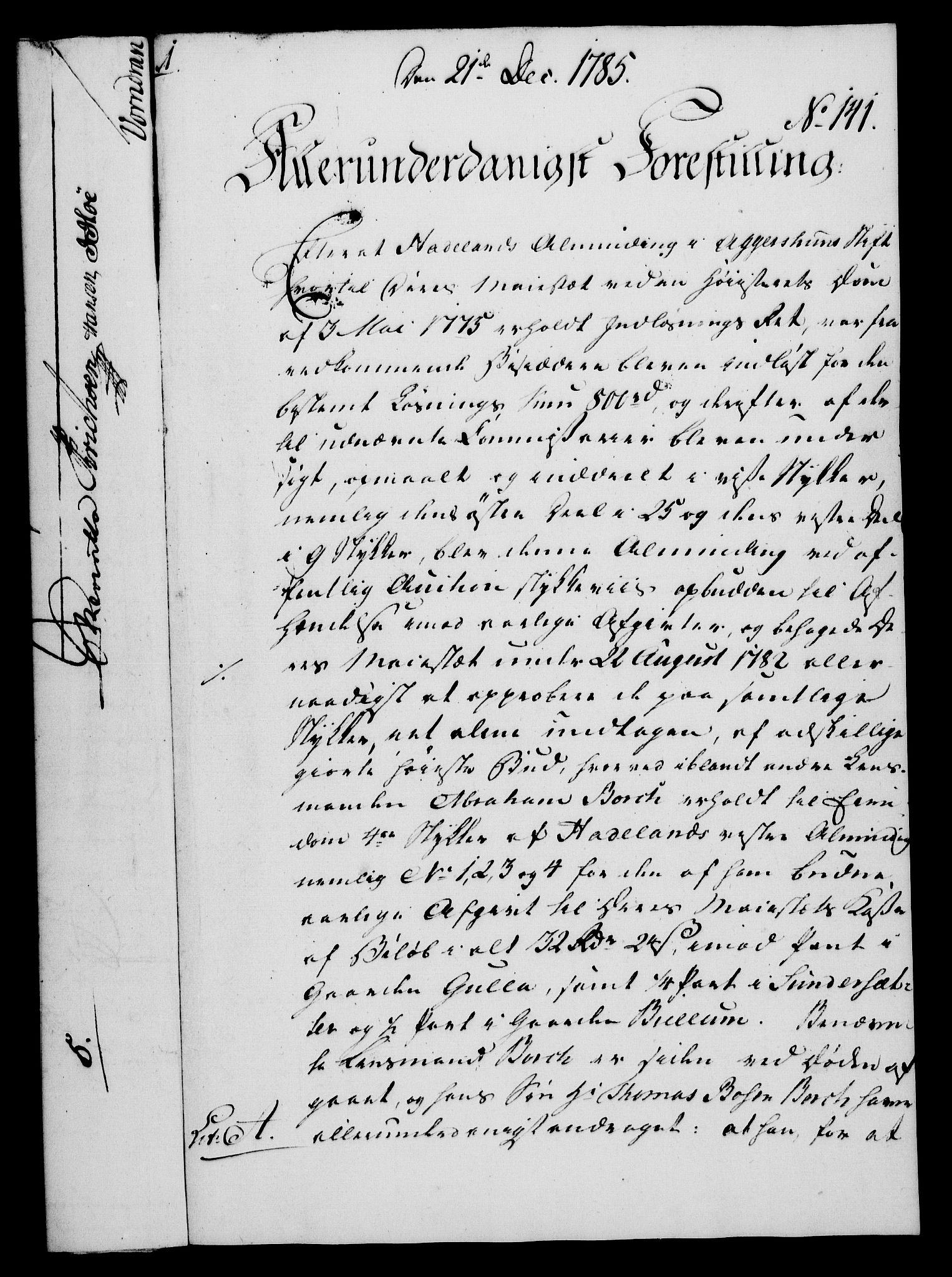 RA, Rentekammeret, Kammerkanselliet, G/Gf/Gfa/L0067: Norsk relasjons- og resolusjonsprotokoll (merket RK 52.67), 1785, s. 1084