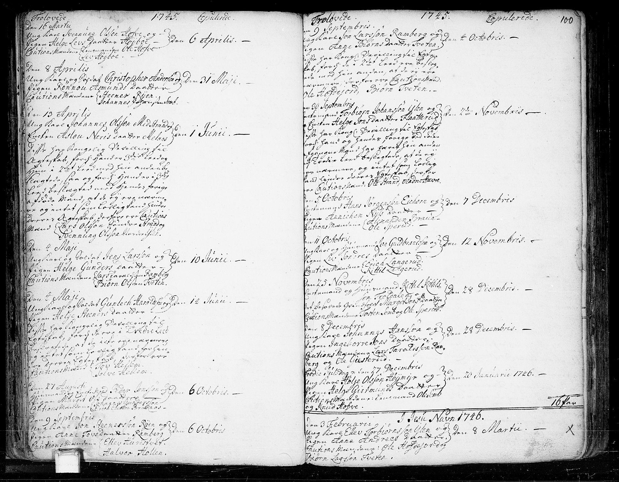 SAKO, Heddal kirkebøker, F/Fa/L0003: Ministerialbok nr. I 3, 1723-1783, s. 100
