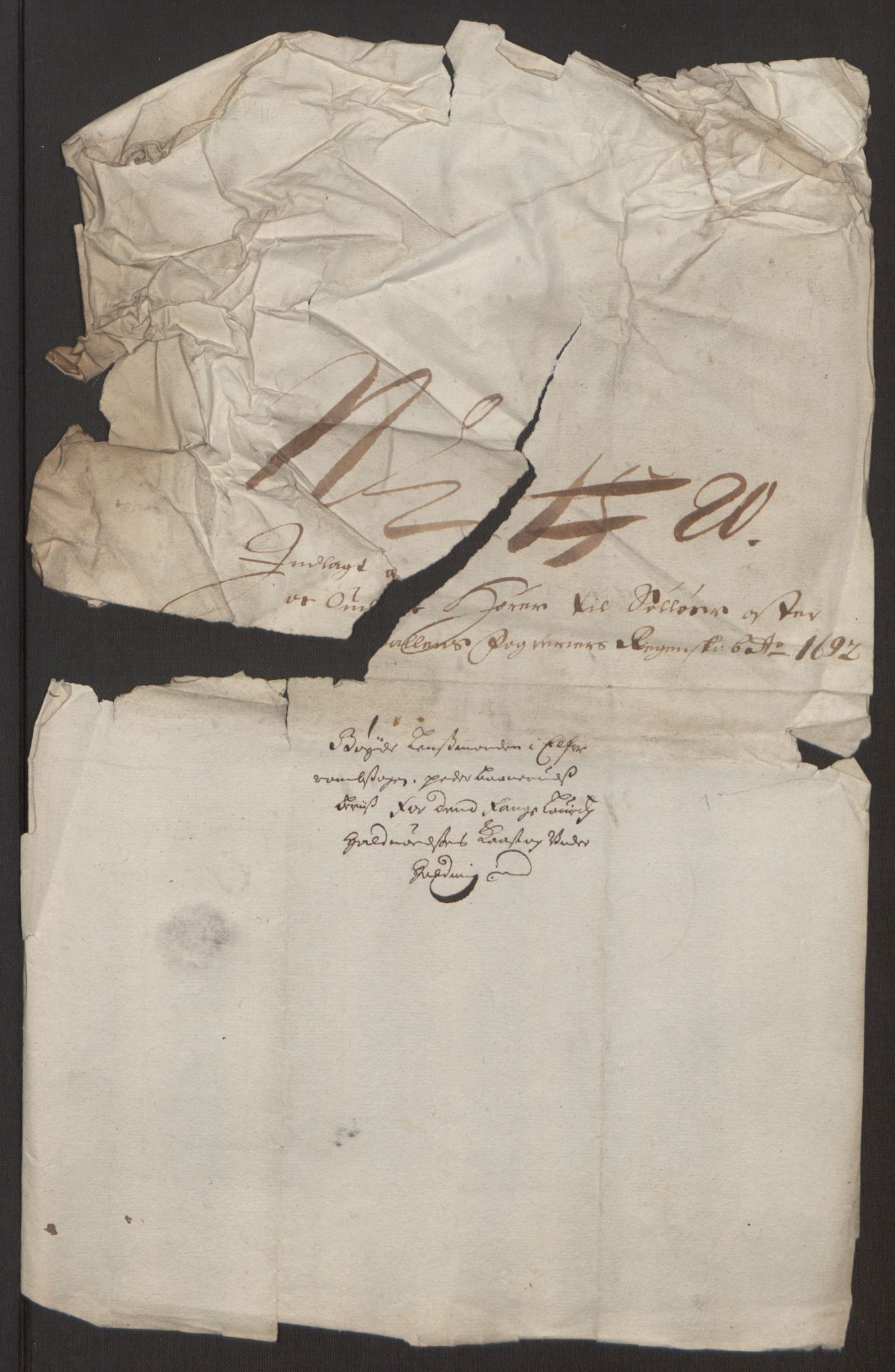 RA, Rentekammeret inntil 1814, Reviderte regnskaper, Fogderegnskap, R13/L0830: Fogderegnskap Solør, Odal og Østerdal, 1692, s. 318