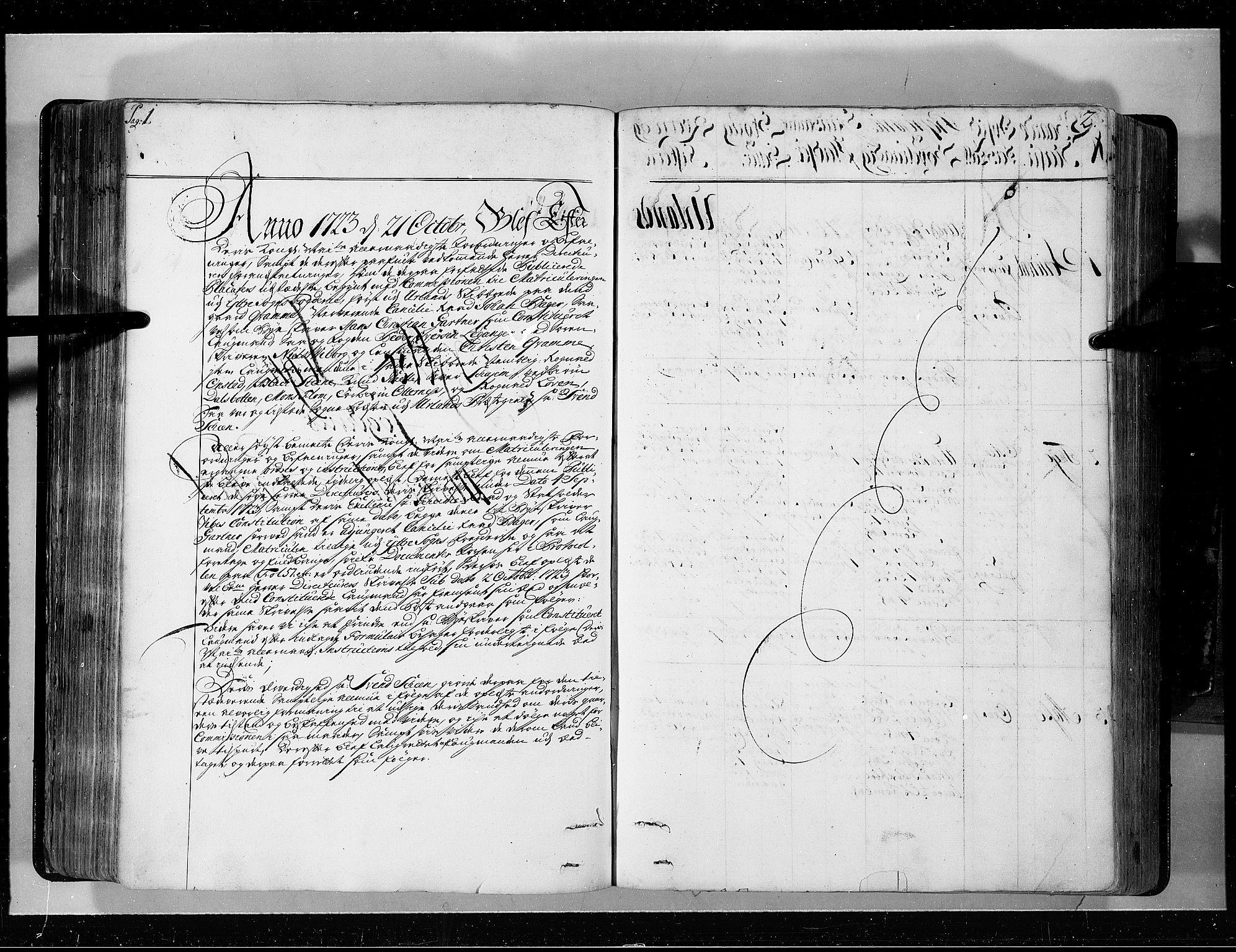 RA, Rentekammeret inntil 1814, Realistisk ordnet avdeling, N/Nb/Nbf/L0143: Ytre og Indre Sogn eksaminasjonsprotokoll, 1723, s. 1-2