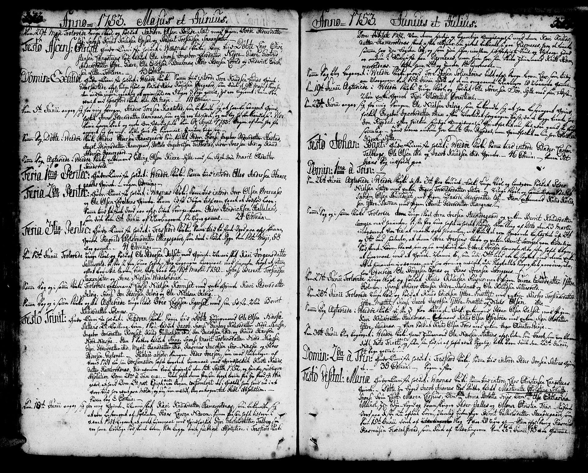 SAT, Ministerialprotokoller, klokkerbøker og fødselsregistre - Møre og Romsdal, 547/L0599: Ministerialbok nr. 547A01, 1721-1764, s. 373-374
