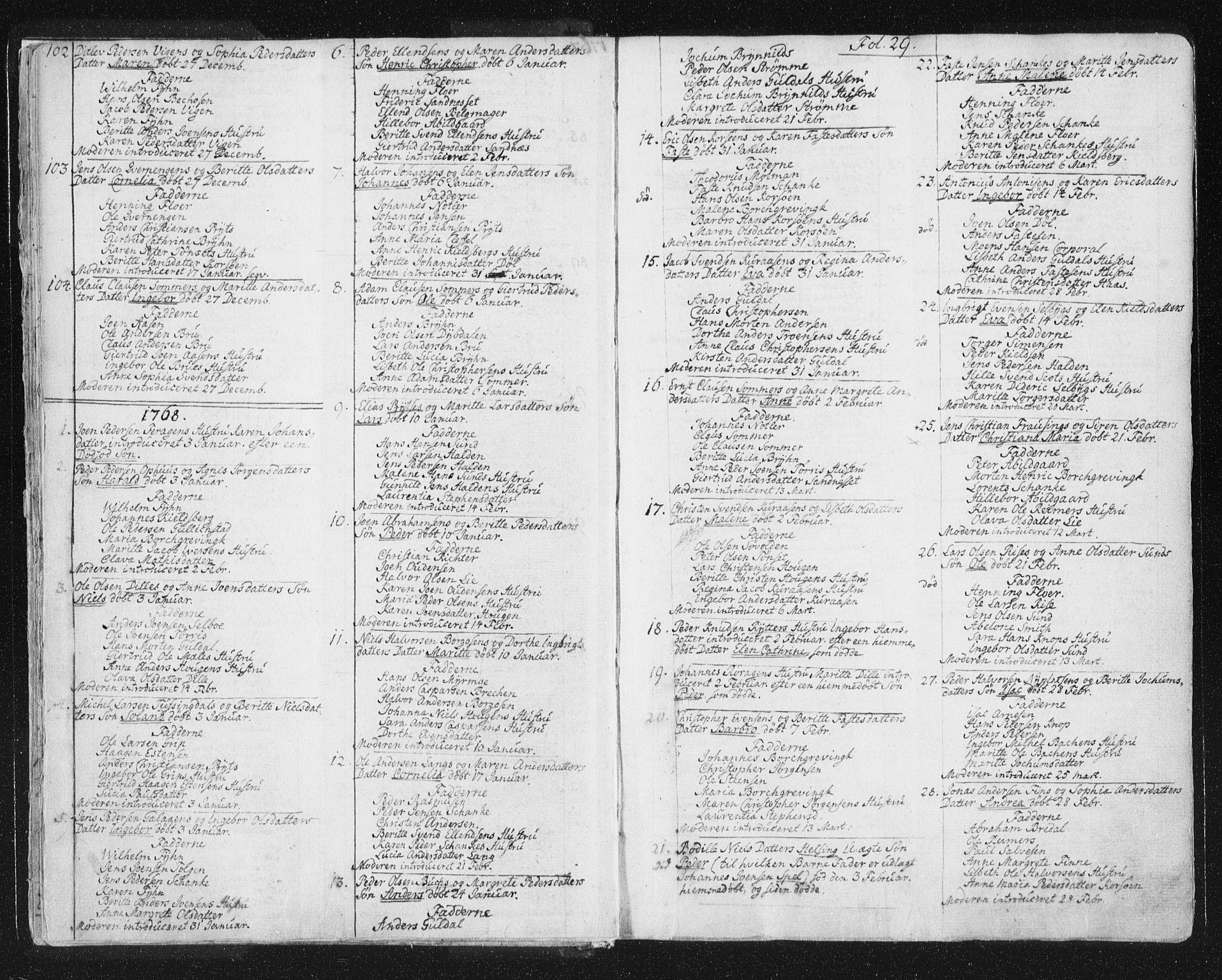 SAT, Ministerialprotokoller, klokkerbøker og fødselsregistre - Sør-Trøndelag, 681/L0926: Ministerialbok nr. 681A04, 1767-1797, s. 29