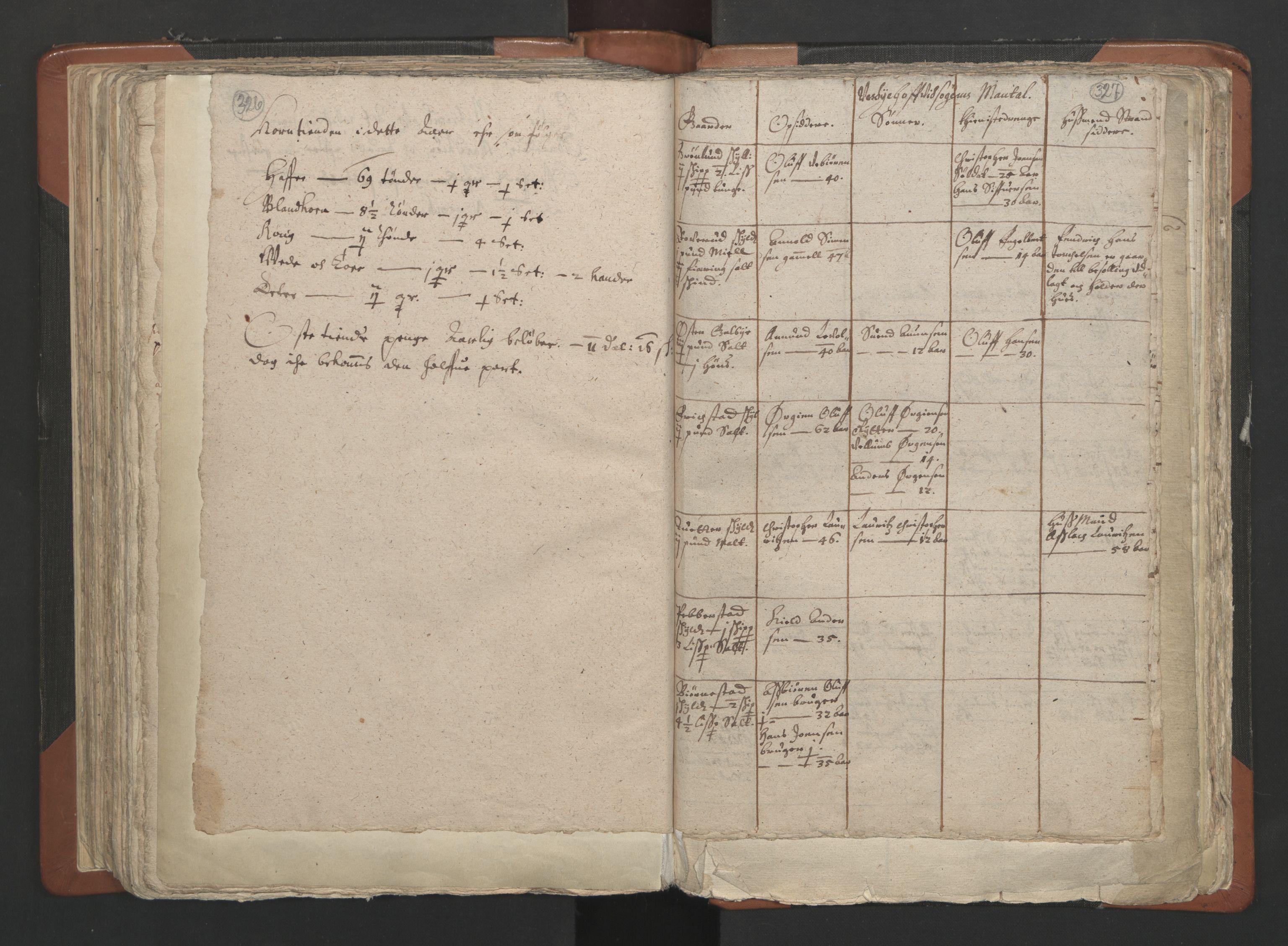 RA, Sogneprestenes manntall 1664-1666, nr. 2: Øvre Borgesyssel prosti, 1664-1666, s. 326-327