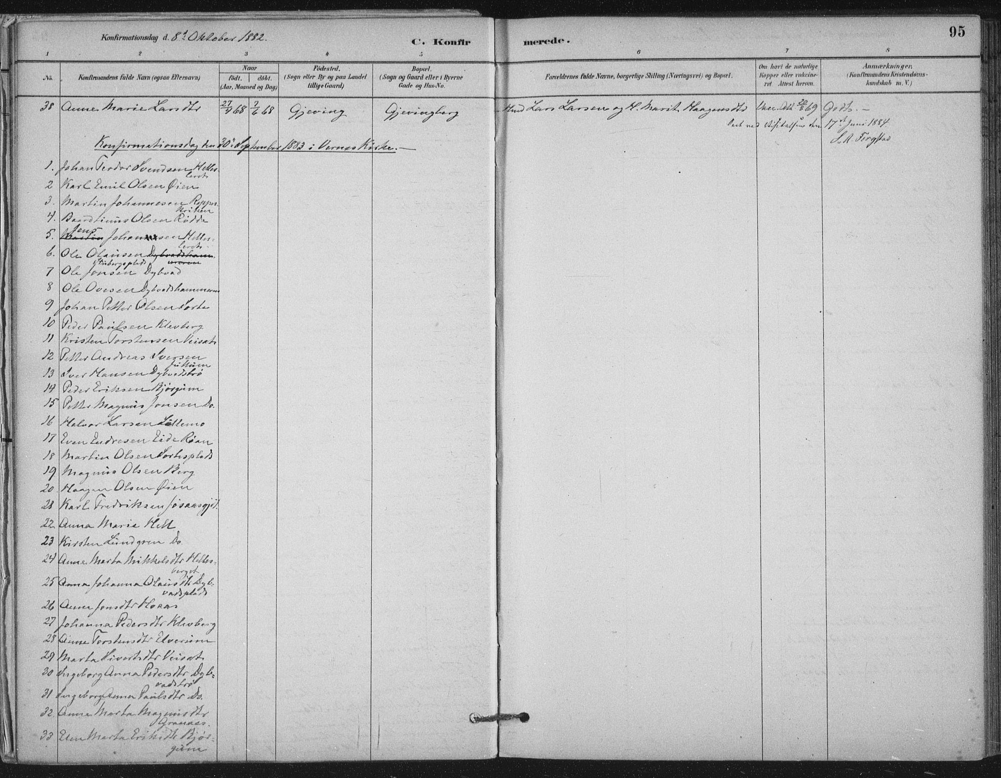 SAT, Ministerialprotokoller, klokkerbøker og fødselsregistre - Nord-Trøndelag, 710/L0095: Ministerialbok nr. 710A01, 1880-1914, s. 95
