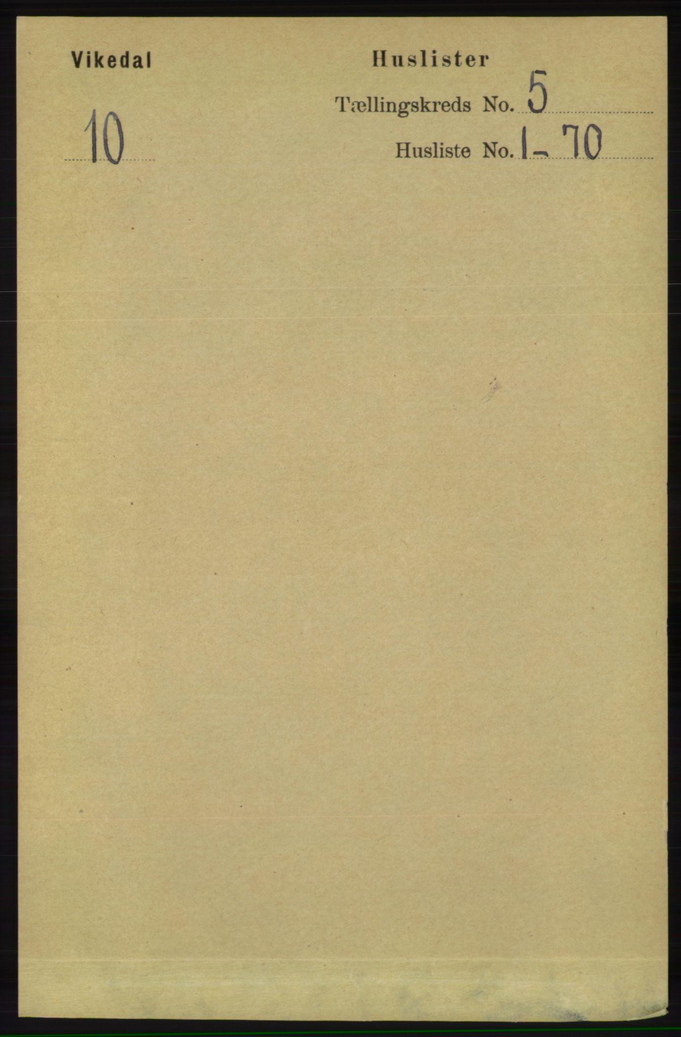 RA, Folketelling 1891 for 1157 Vikedal herred, 1891, s. 1083