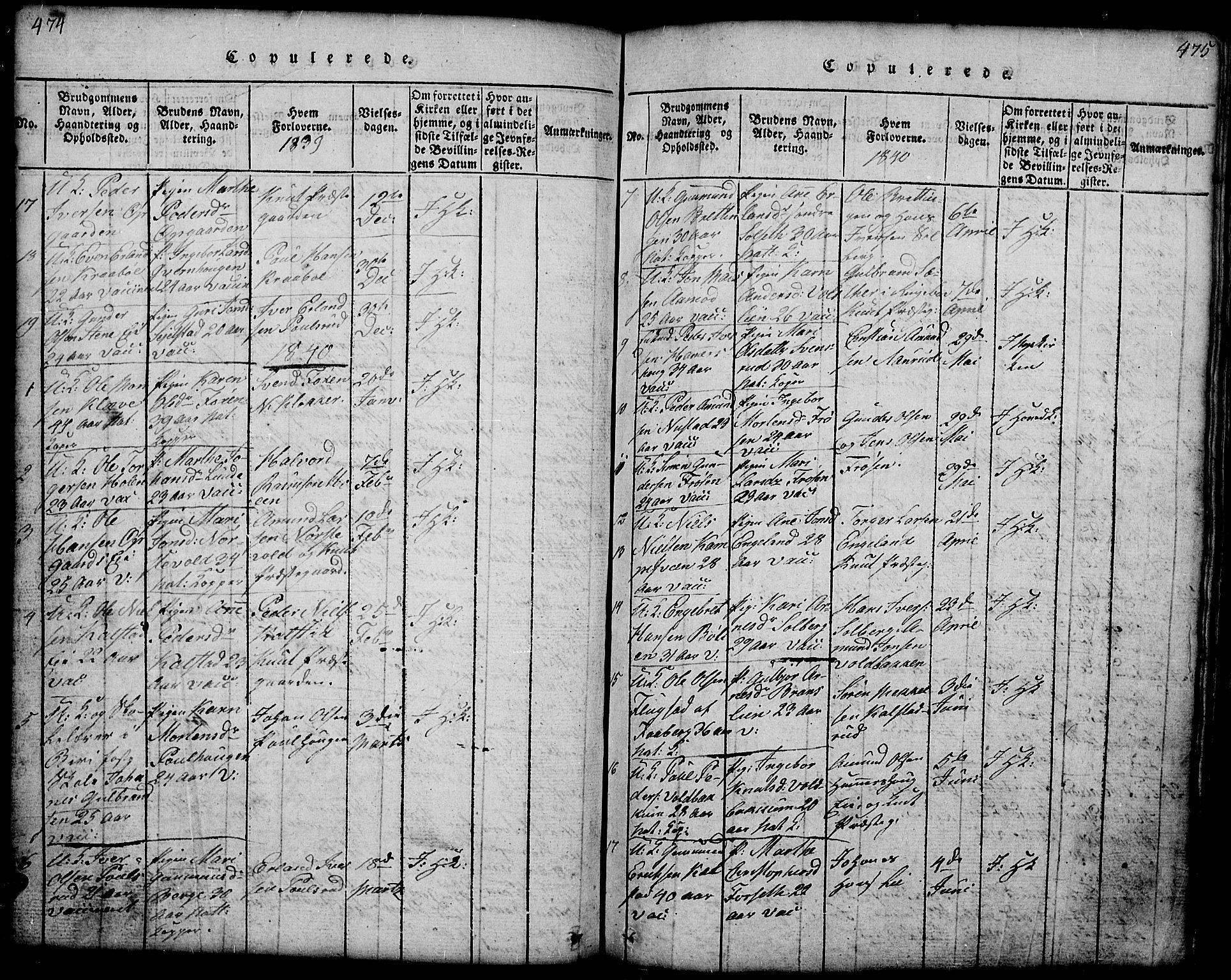 SAH, Gausdal prestekontor, Klokkerbok nr. 1, 1817-1848, s. 474-475