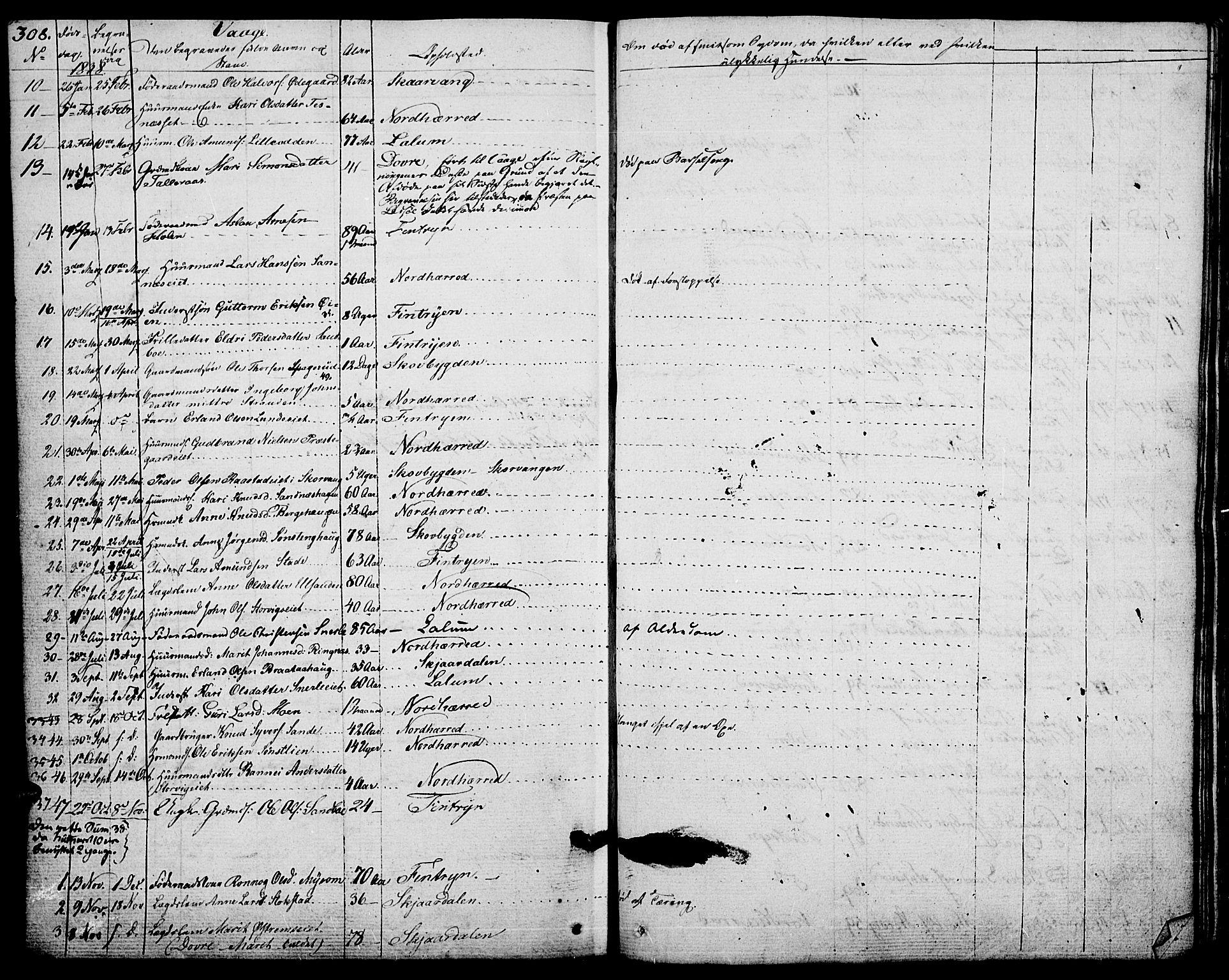 SAH, Vågå prestekontor, Ministerialbok nr. 4 /1, 1827-1842, s. 308