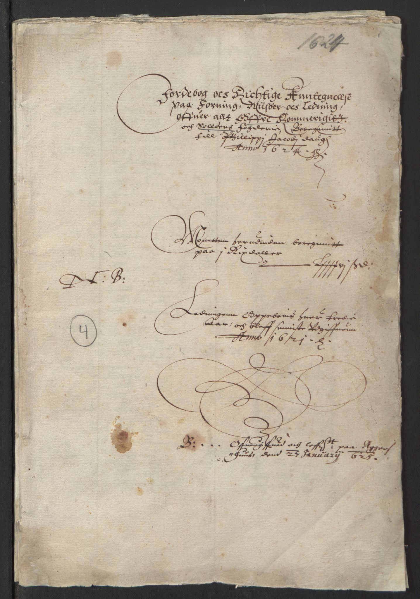 RA, Stattholderembetet 1572-1771, Ek/L0001: Jordebøker før 1624 og til utligning av garnisonsskatt 1624-1626:, 1624-1625, s. 98