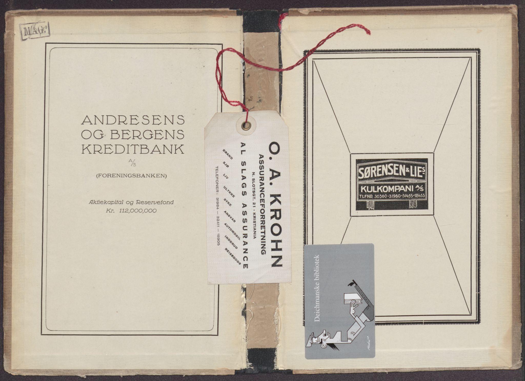 RA, Aker adressebok/adressekalender (publikasjon)*, 1922
