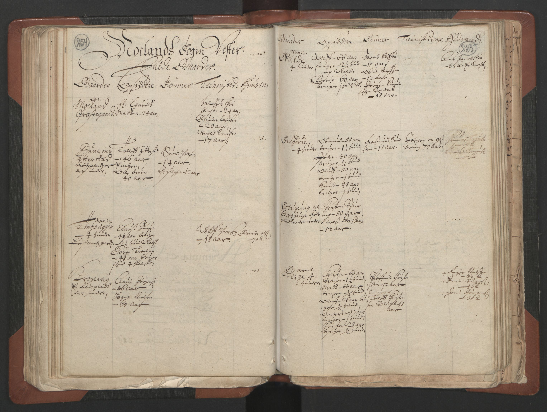 RA, Fogdenes og sorenskrivernes manntall 1664-1666, nr. 7: Nedenes fogderi, 1664-1666, s. 254-255