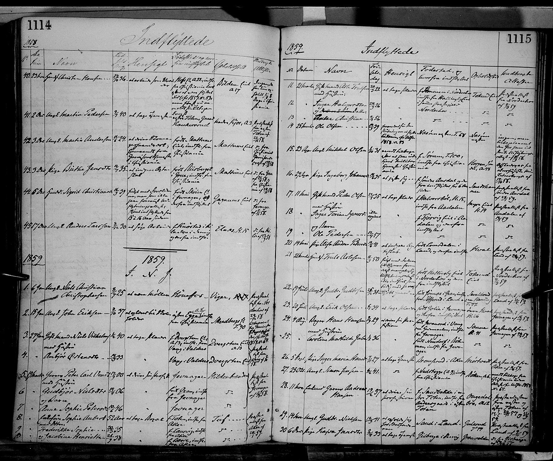 SAH, Gran prestekontor, Ministerialbok nr. 12, 1856-1874, s. 1114-1115