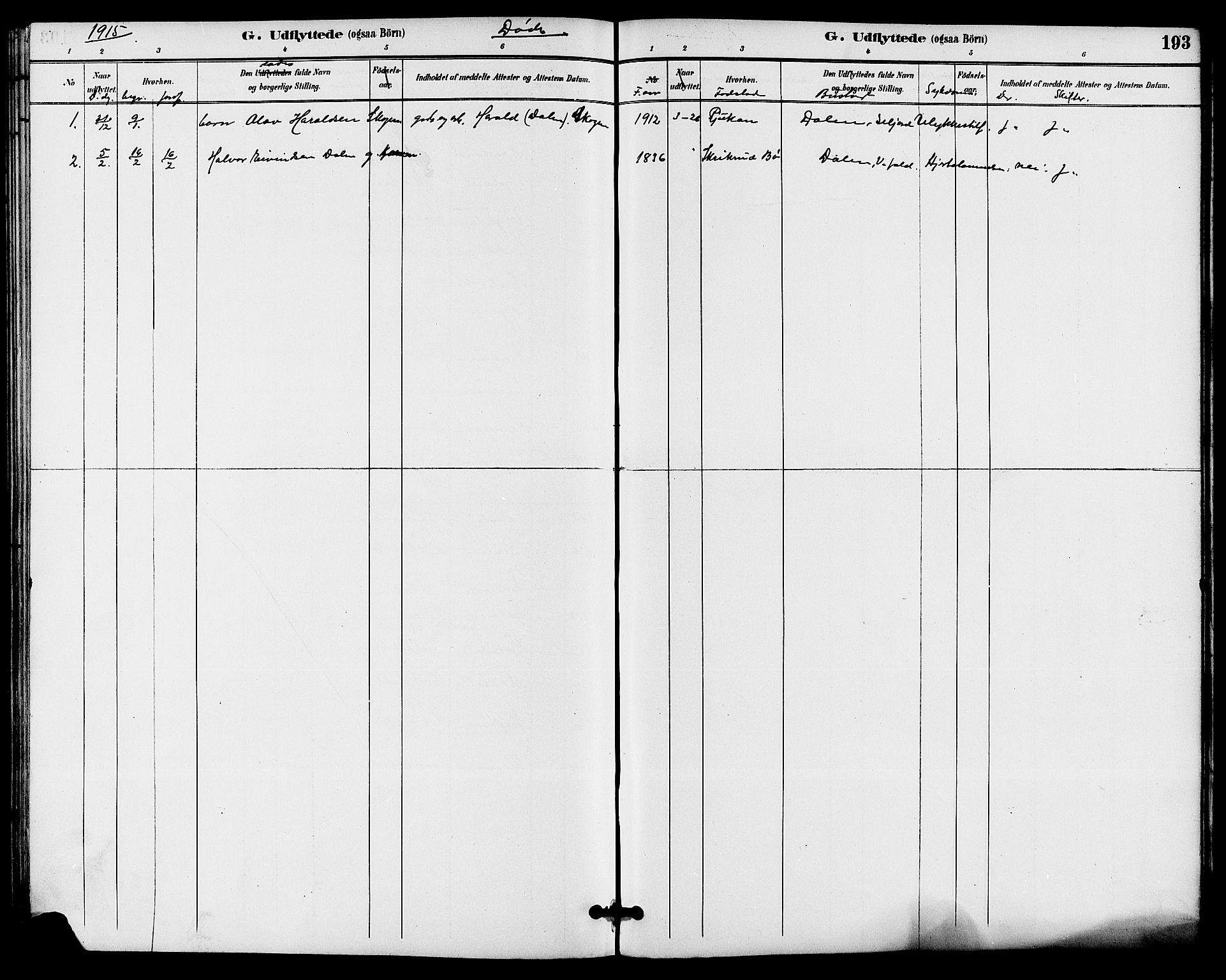 SAKO, Seljord kirkebøker, G/Ga/L0005: Klokkerbok nr. I 5, 1887-1914, s. 193