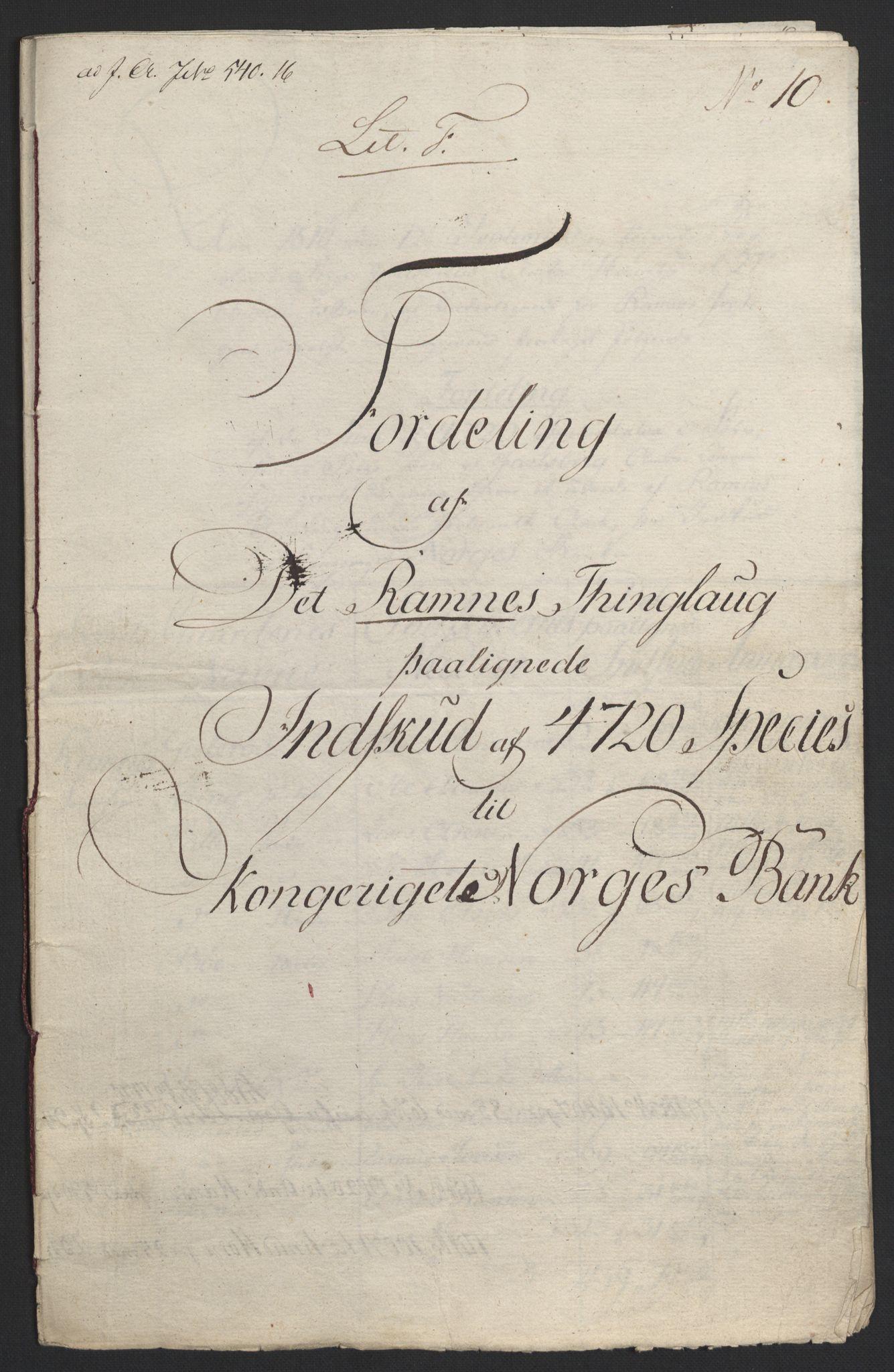 NOBA, Norges Bank/Sølvskatten 1816*, 1816-1824, s. 116