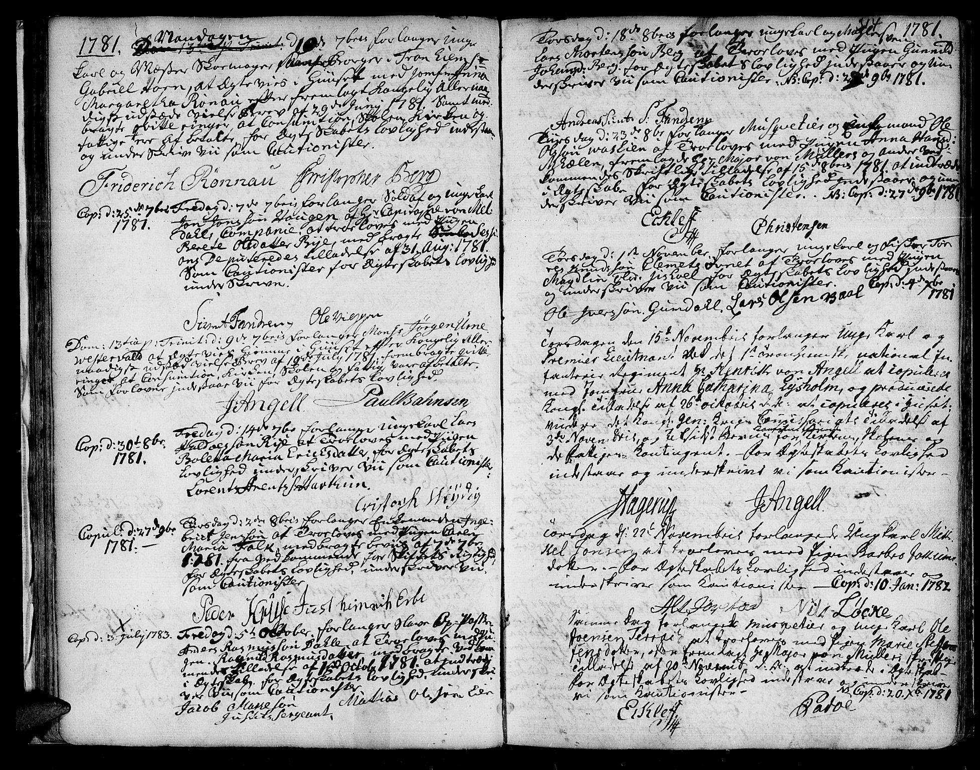 SAT, Ministerialprotokoller, klokkerbøker og fødselsregistre - Sør-Trøndelag, 601/L0038: Ministerialbok nr. 601A06, 1766-1877, s. 314