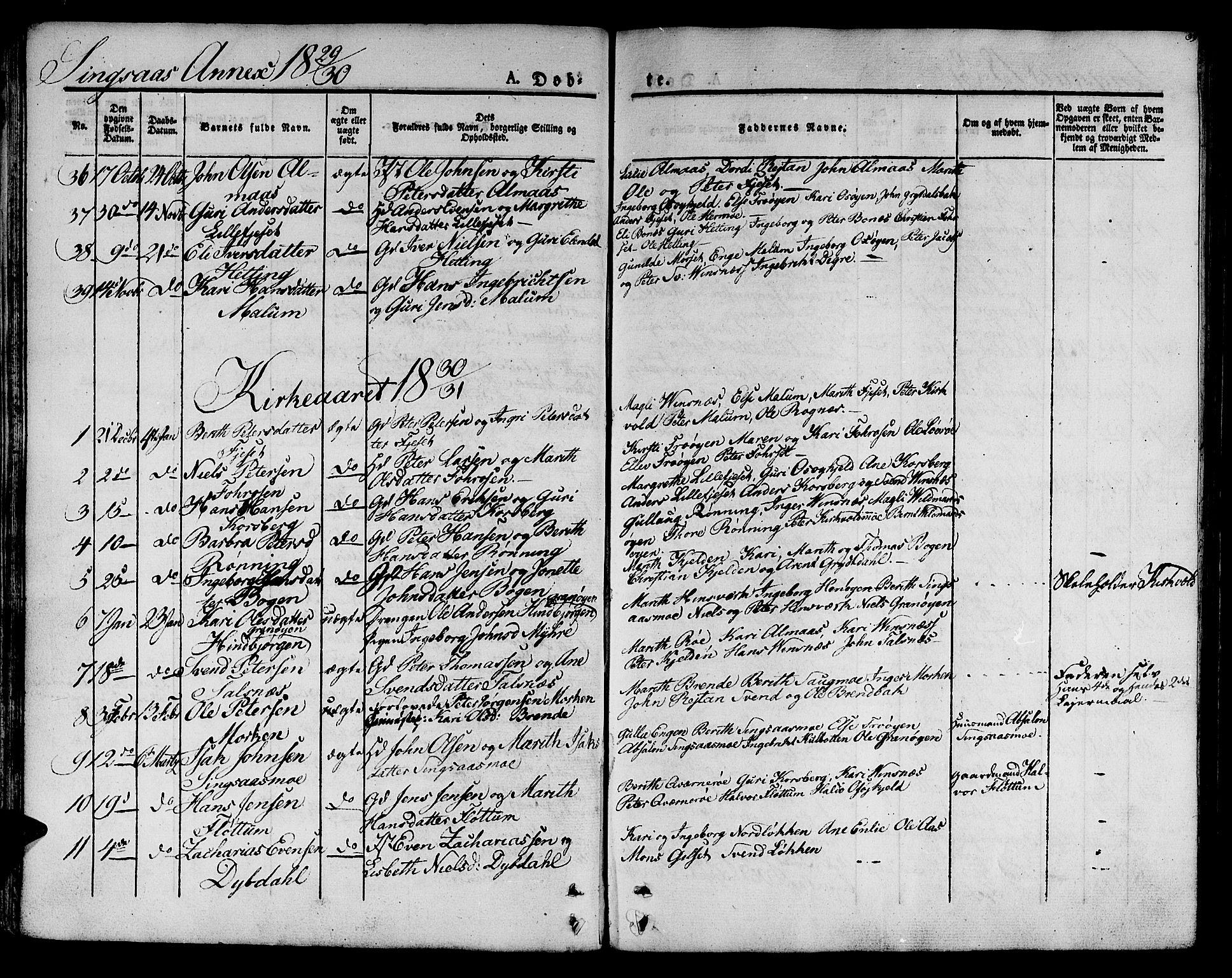 SAT, Ministerialprotokoller, klokkerbøker og fødselsregistre - Sør-Trøndelag, 685/L0958: Ministerialbok nr. 685A04 /2, 1829-1845, s. 33
