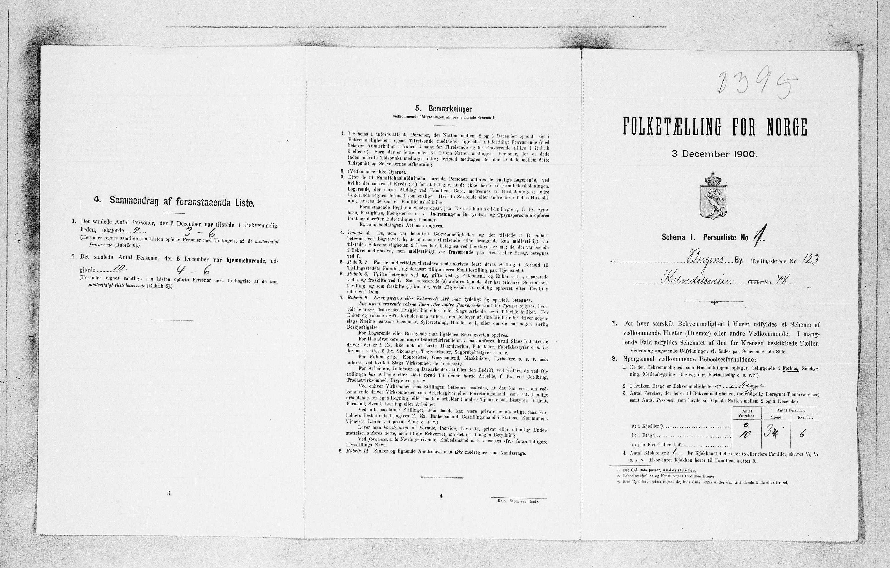 SAB, Folketelling 1900 for 1301 Bergen kjøpstad, 1900, s. 25883