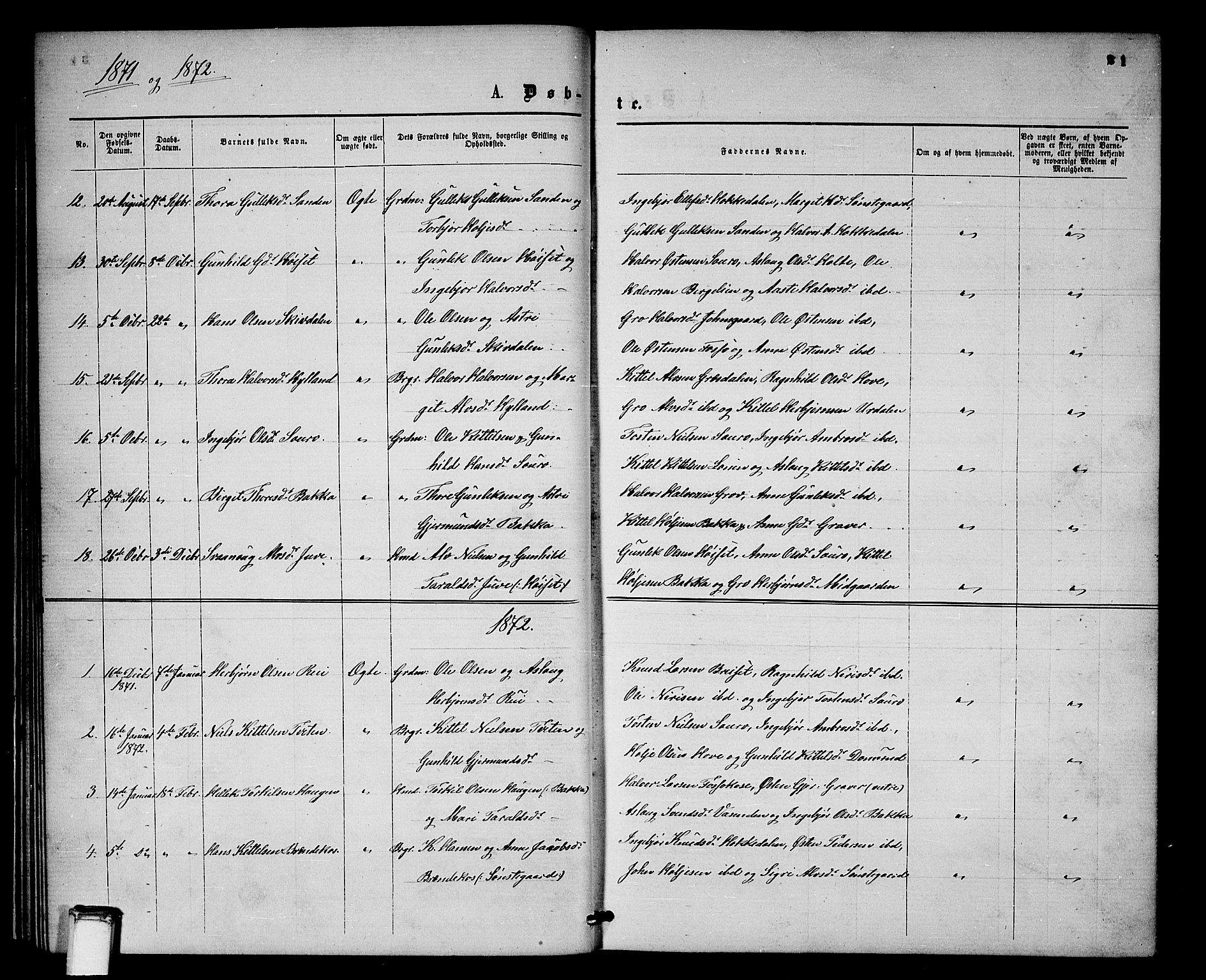 SAKO, Gransherad kirkebøker, G/Gb/L0002: Klokkerbok nr. II 2, 1860-1886, s. 21